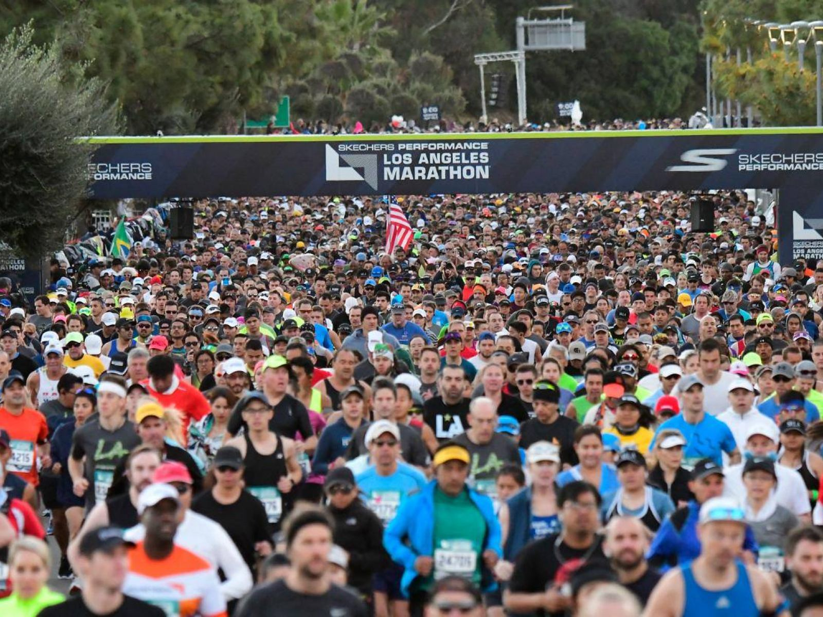 LA Marathon Start Line Full Field