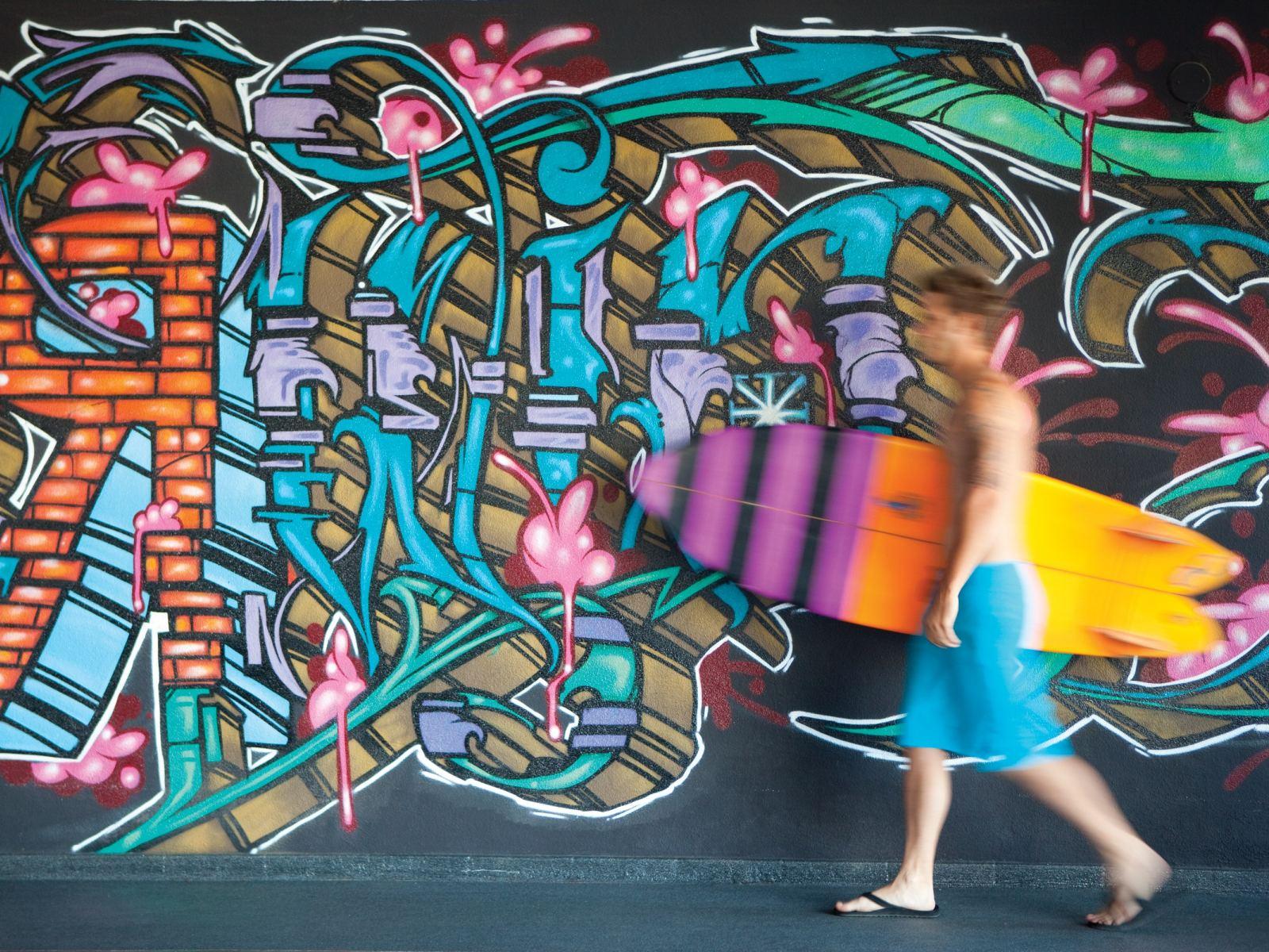 Hotel Erwin Graffiti Wall
