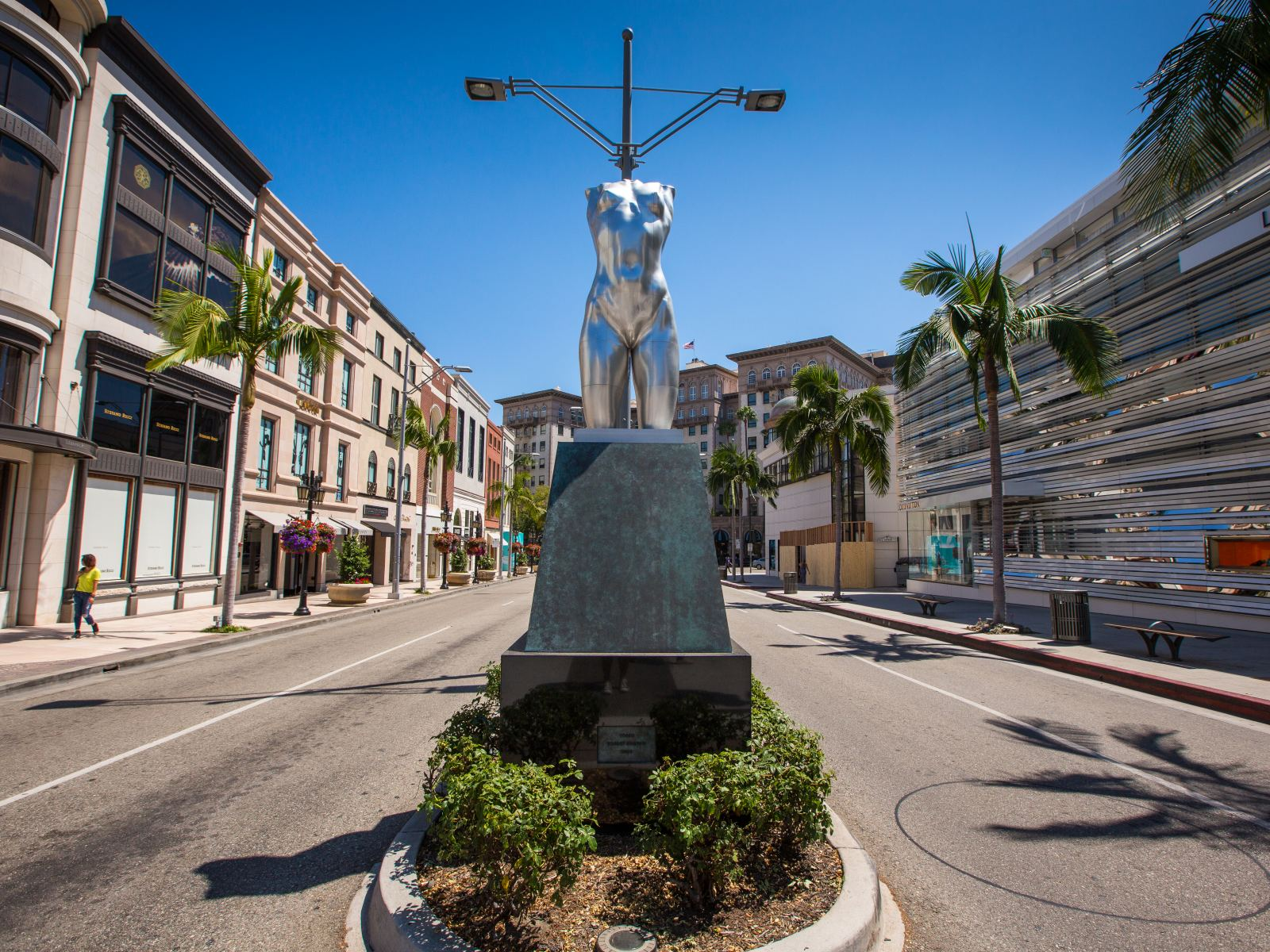 "Robert Graham ""Torso"" on Rodeo Drive in Beverly Hills"