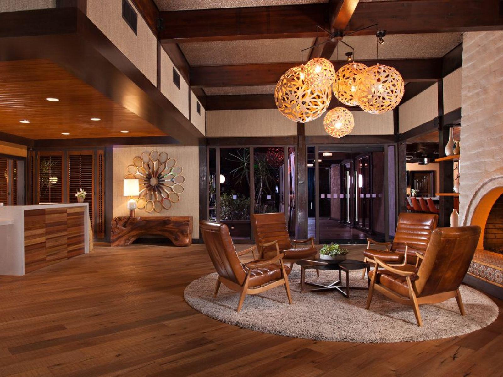 The Garland hotel lobby