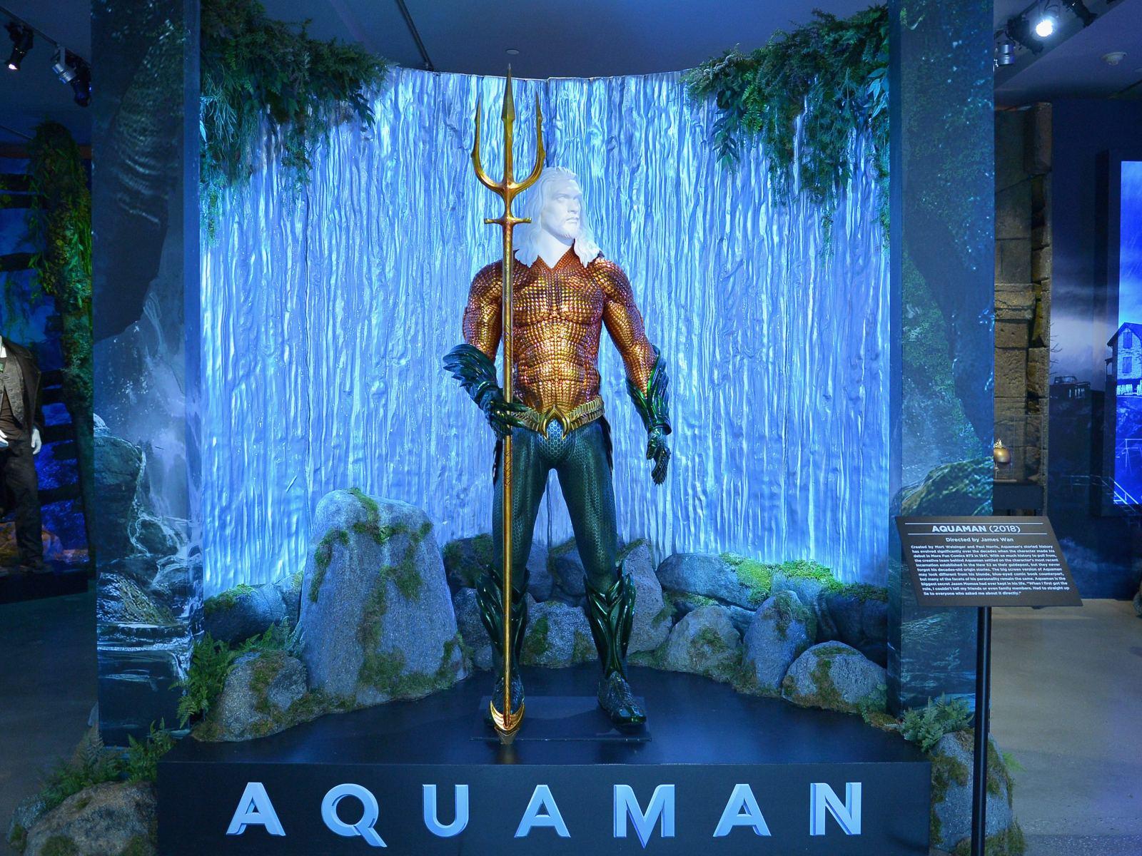 """Aquaman"" exhibit at Warner Bros. Studio Tour Hollywood"