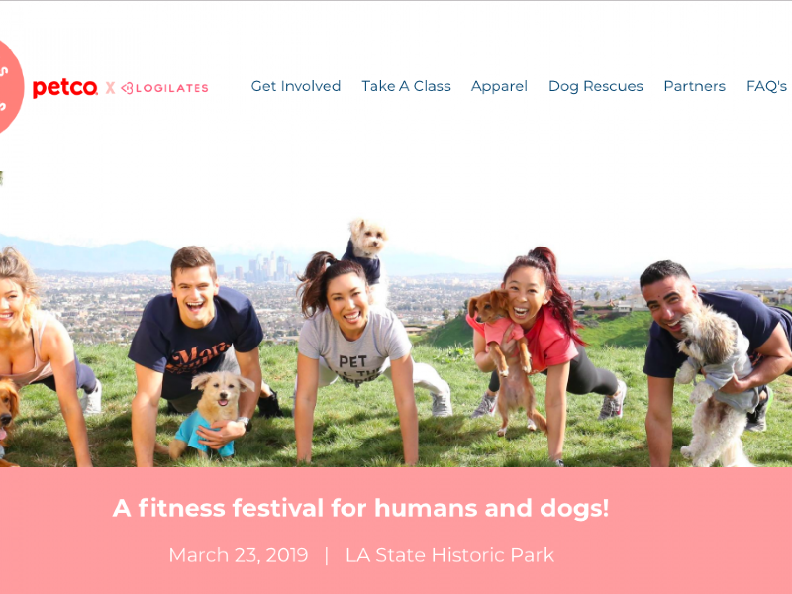 Main image for event titled Puppies & Planks