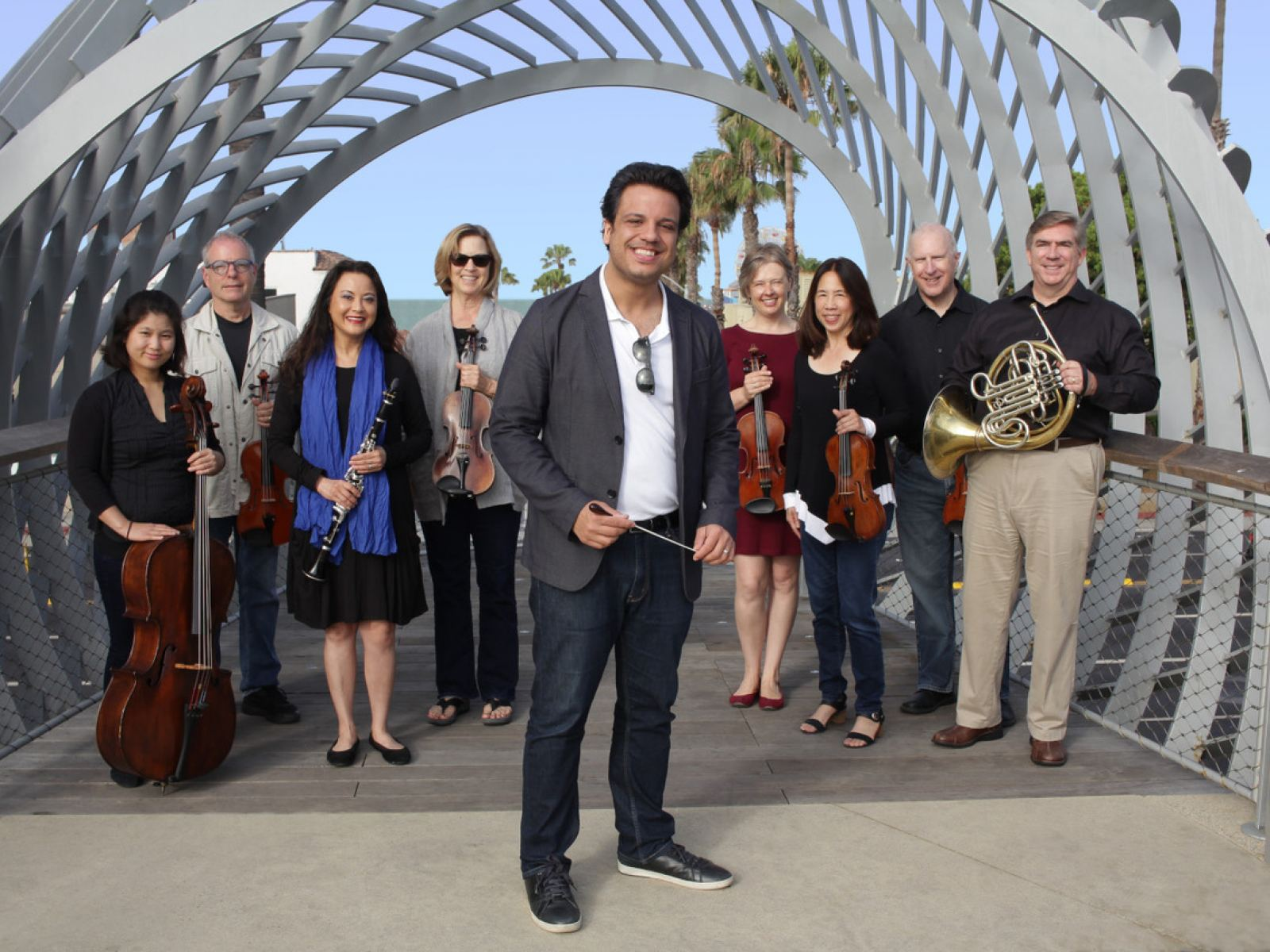 Roger Kalia and members of Orchestra Santa Monica