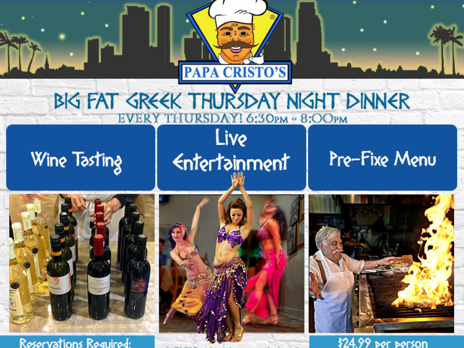 Papa Cristo's Big Fat Greek Thursday Night Dinner