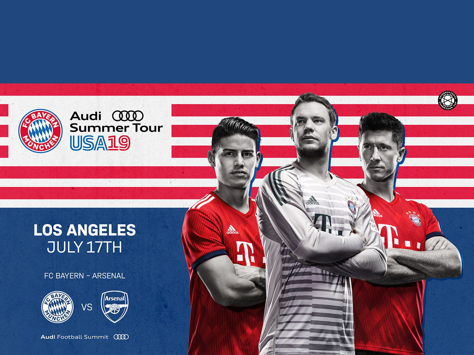Main image for event titled International Champions Cup: FC Bayern vs Arsenal