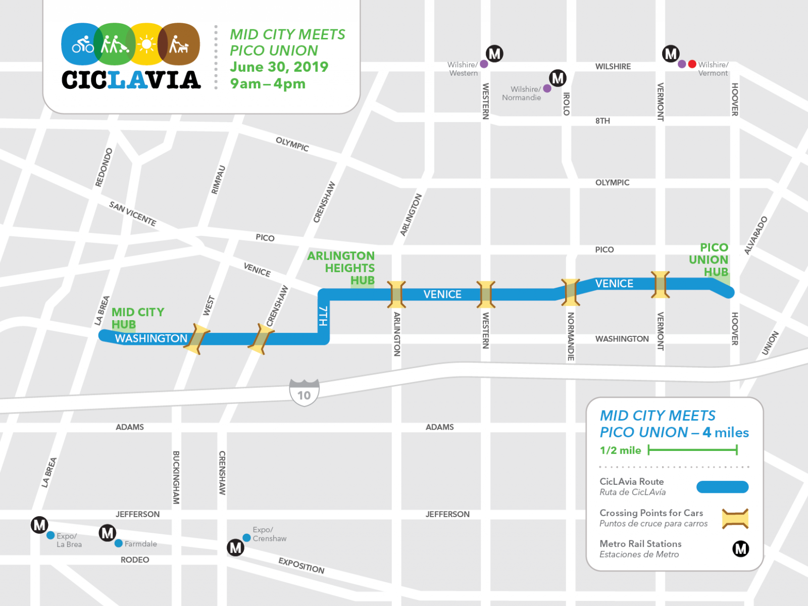 CicLAvia—Mid City Meets Pico Union on June 30