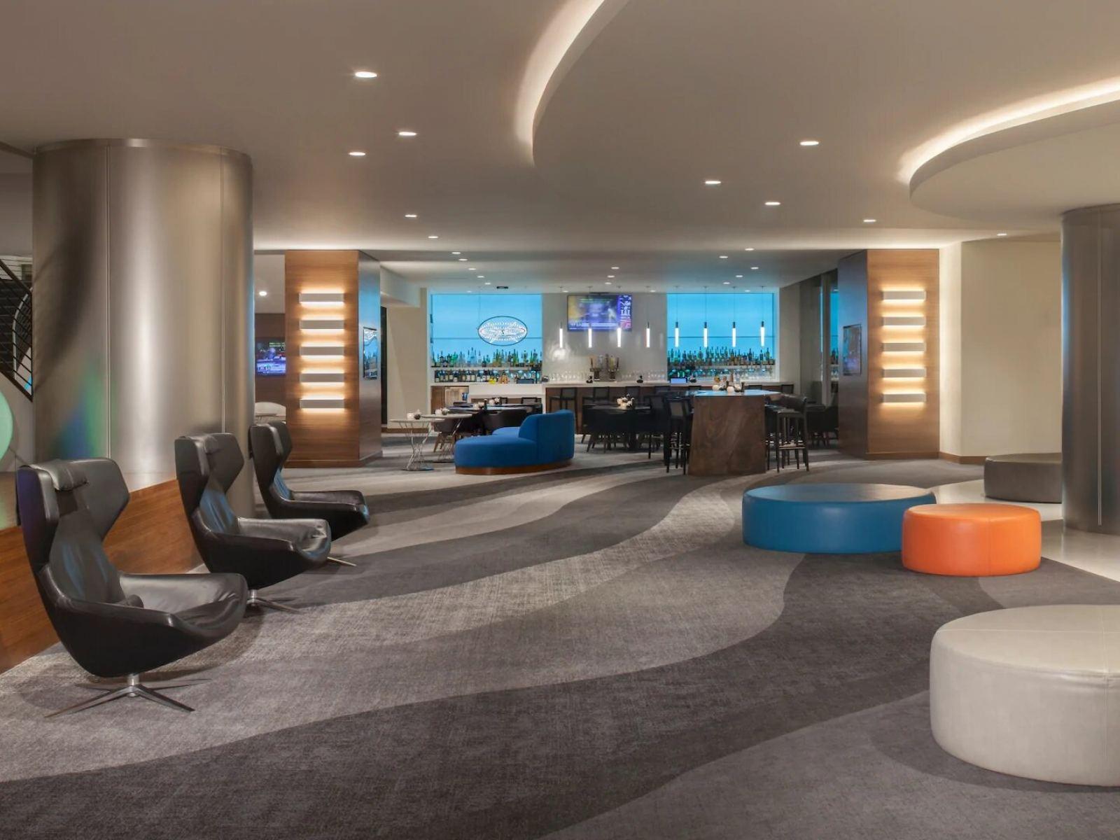 Hyatt Regency LAX lobby and bar