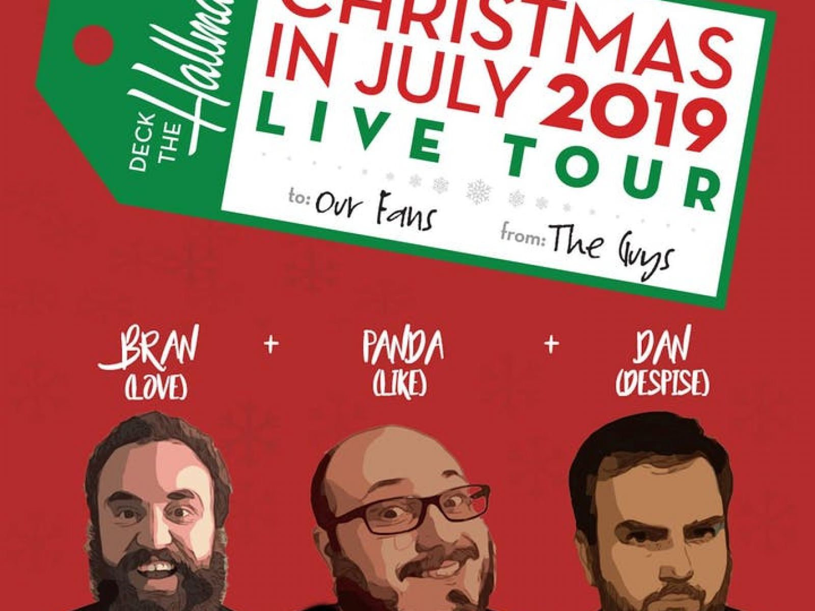 Hallmark Christmas In July 2019.Deck The Hallmark Christmas In July Comedy Show Discover