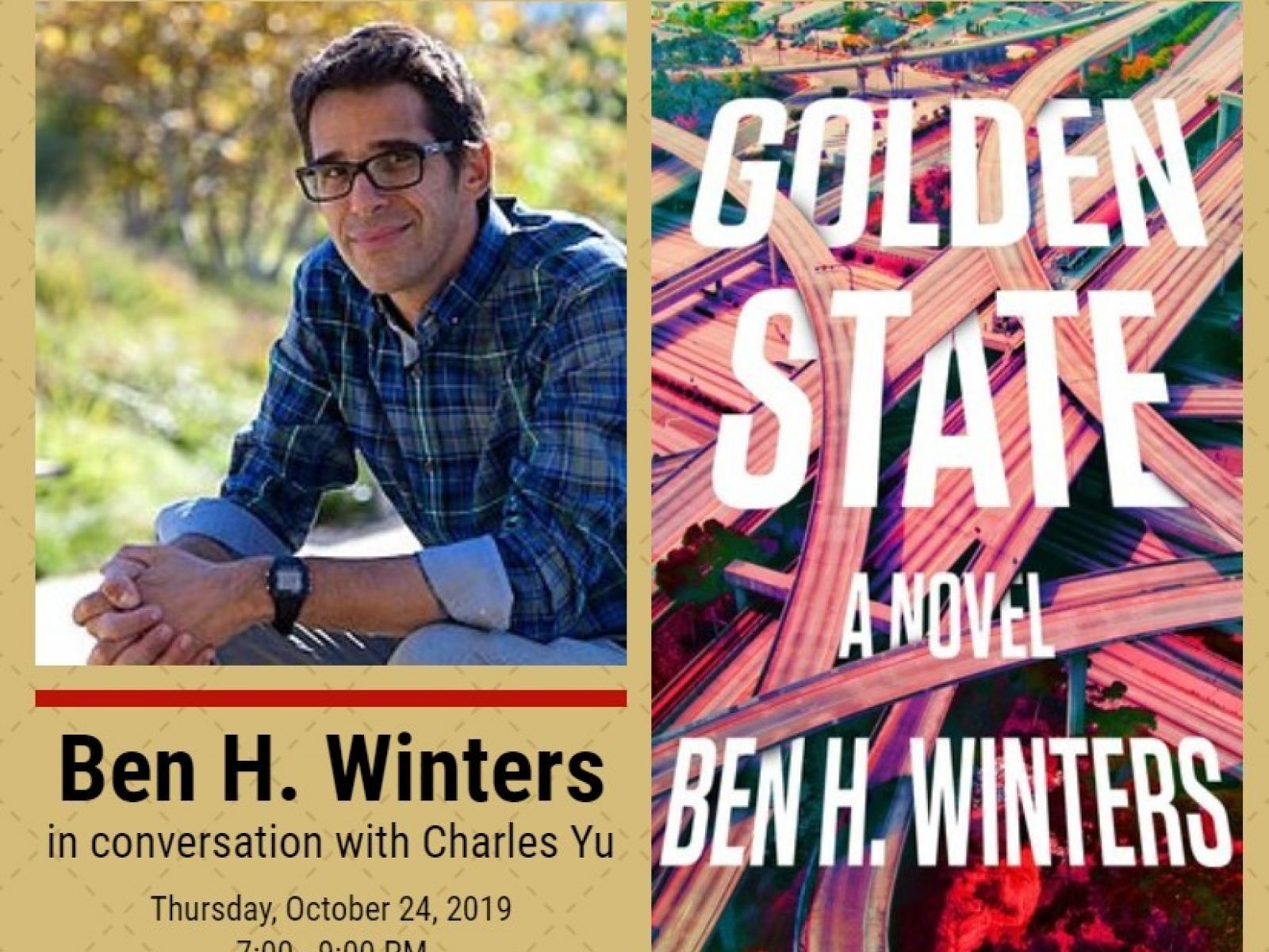 "Ben H. Winters and his book ""Golden State"""