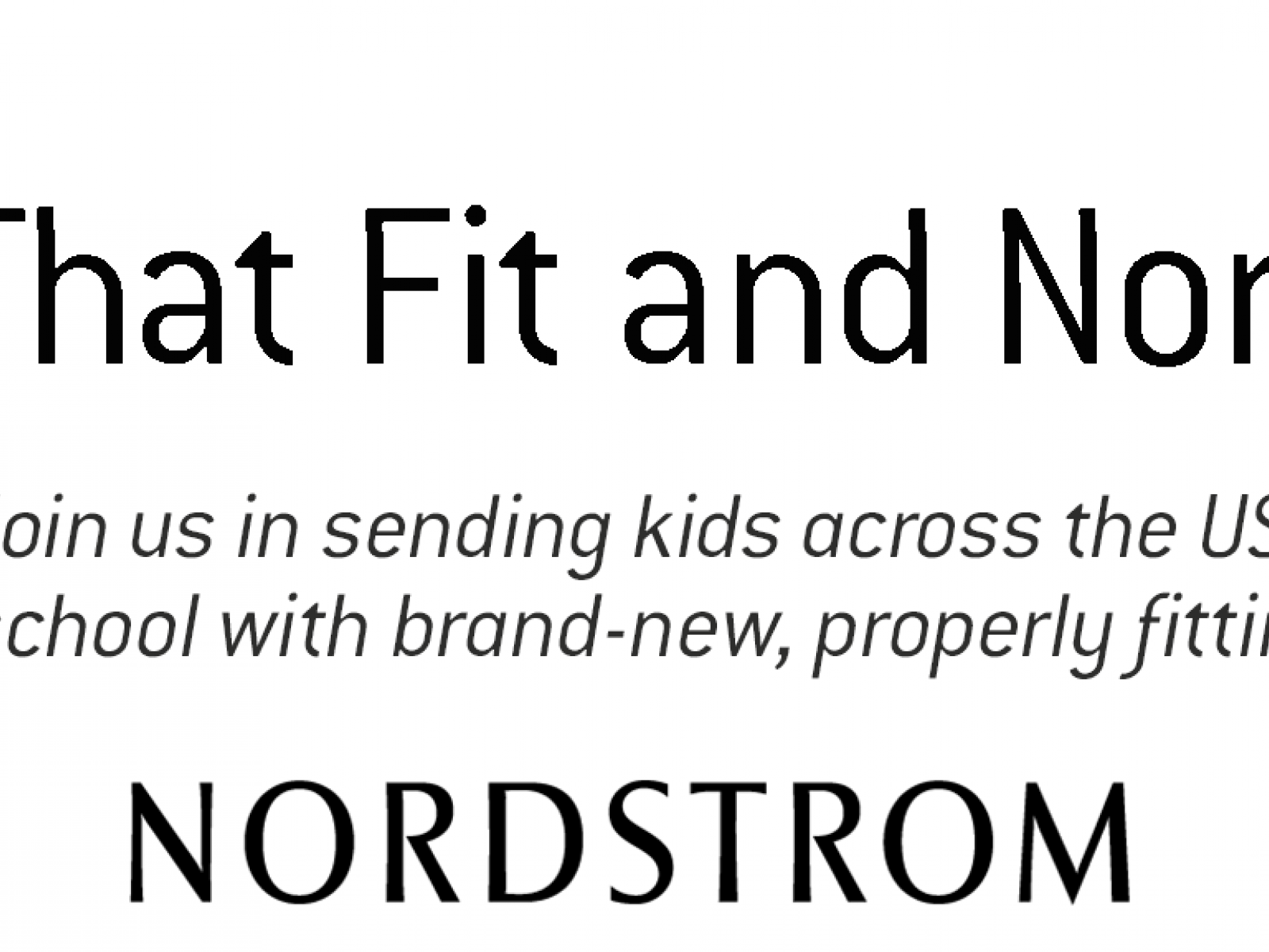 Shoes That Fit and Nordstrom