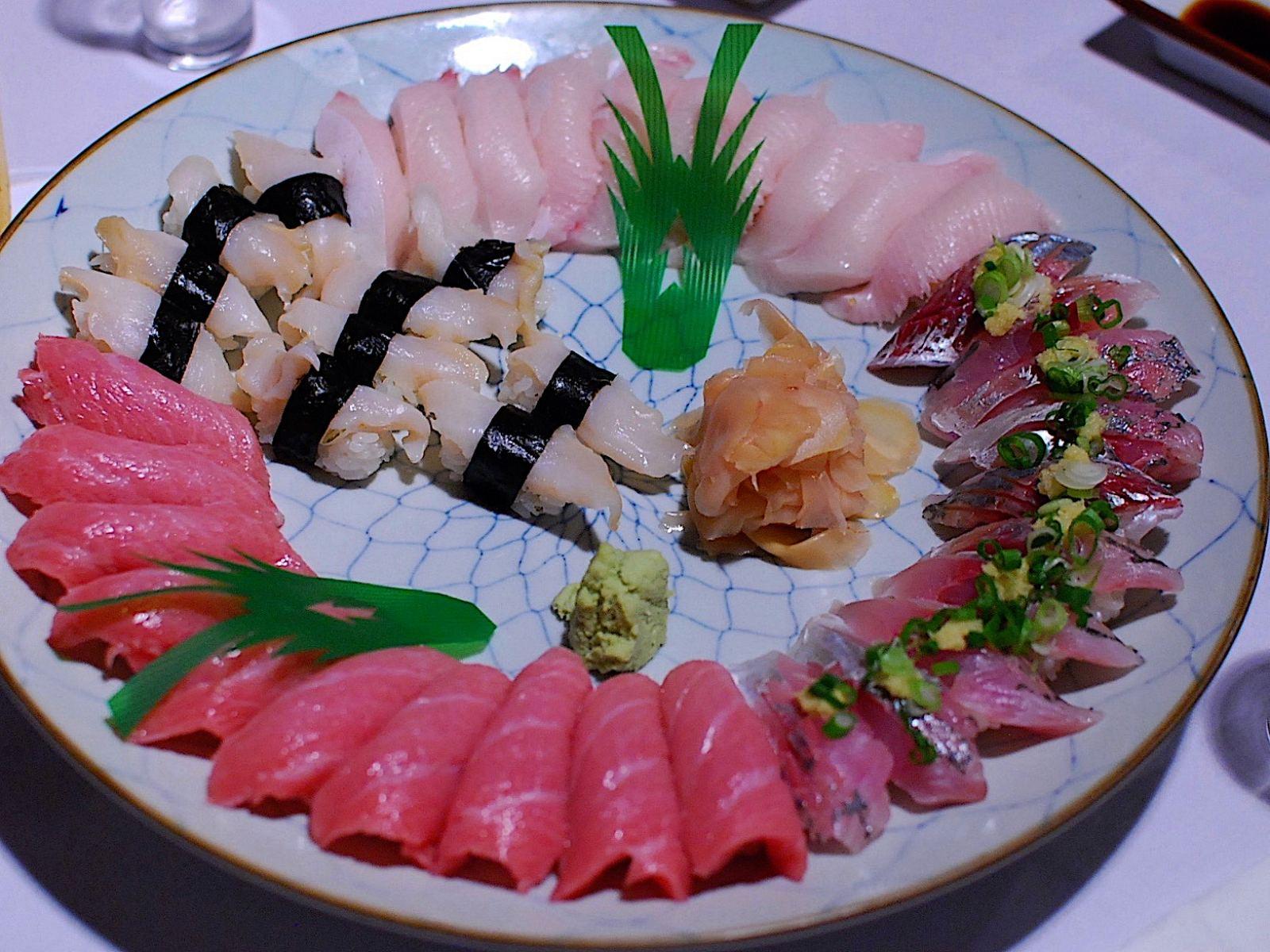 Sushi platter at Sushi Gen in Little Tokyo