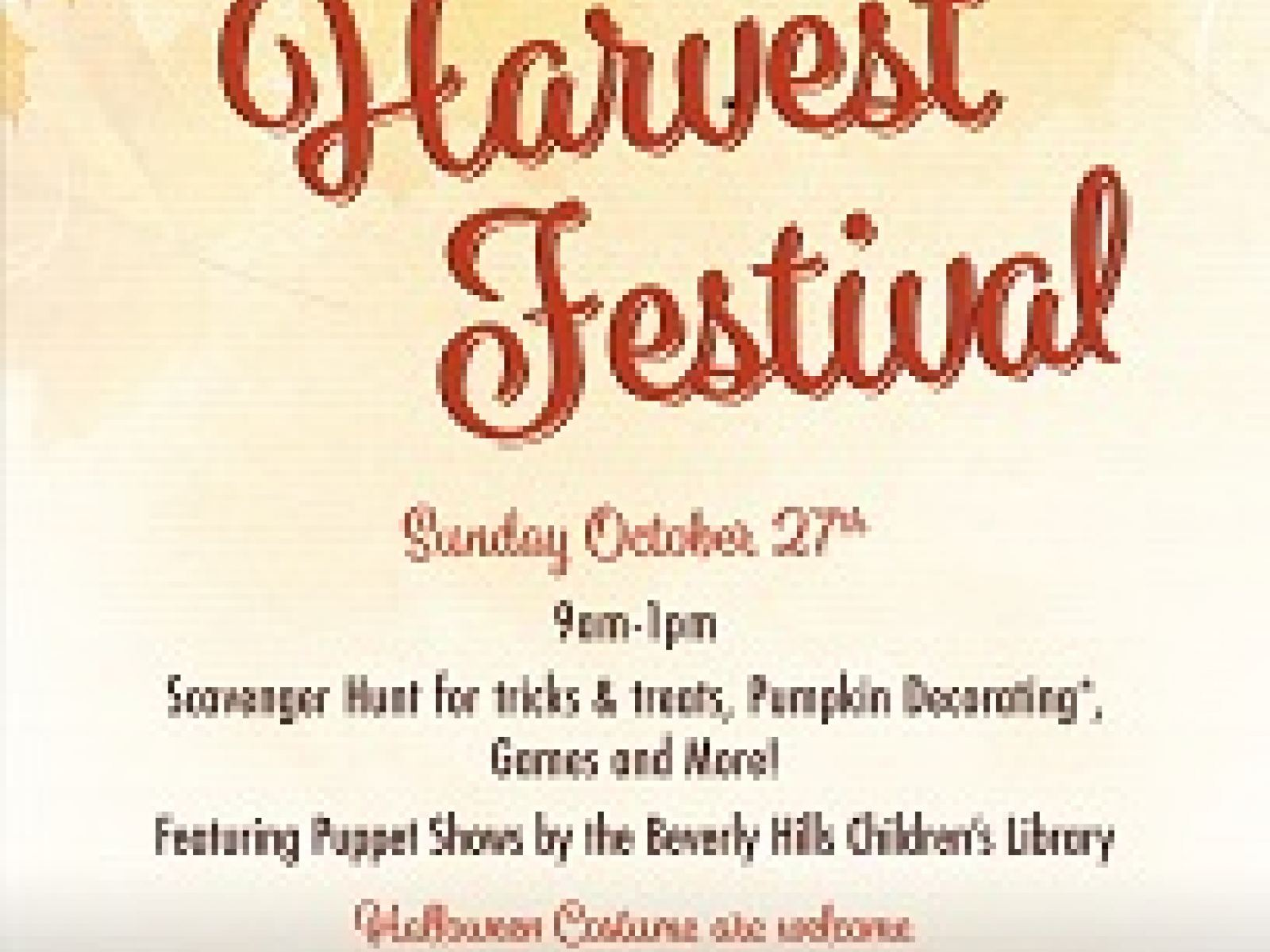 Beverly Hills Farmers Market Fall Harvest Festival