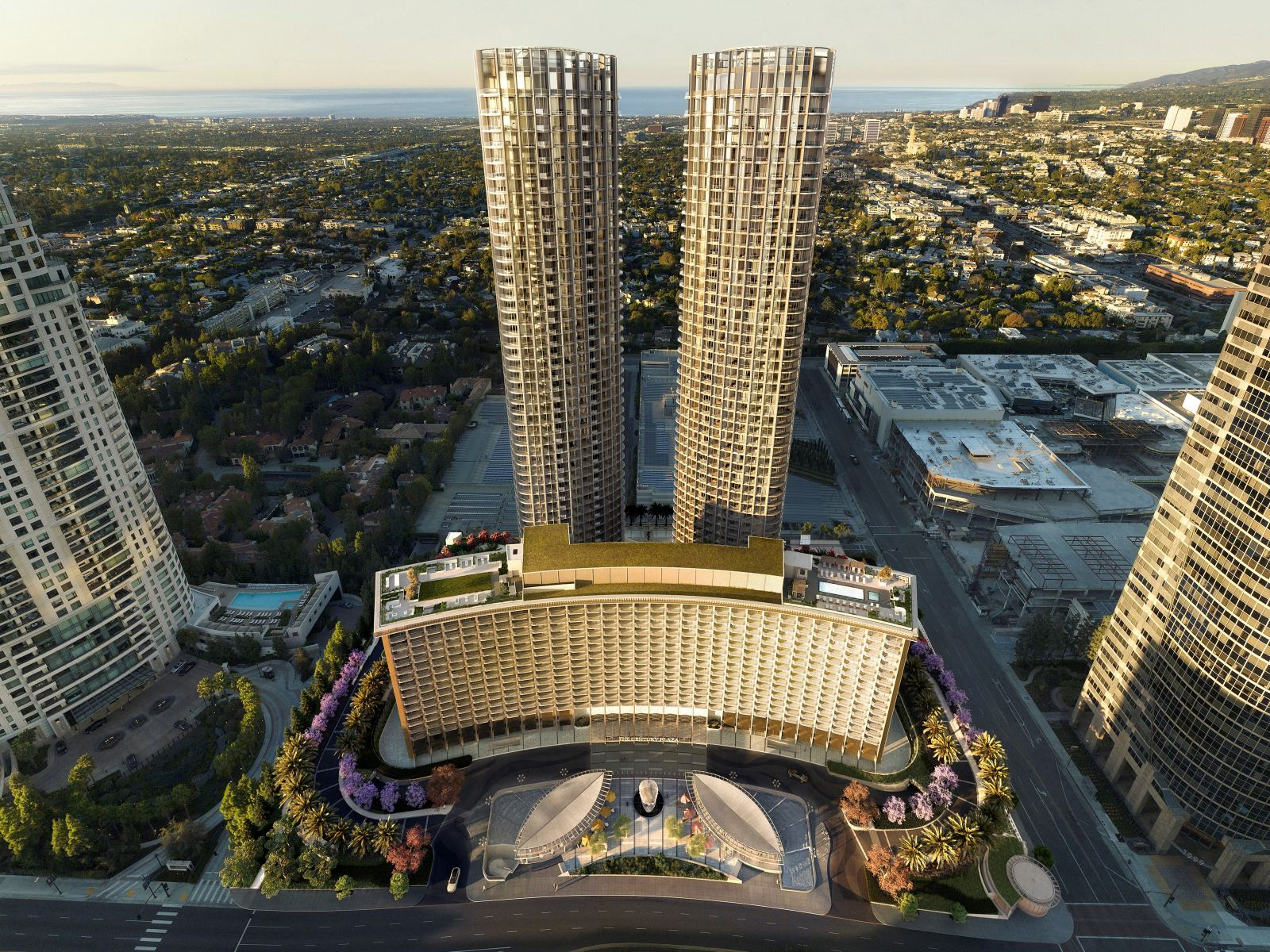 Rendering of the Fairmont Century Plaza