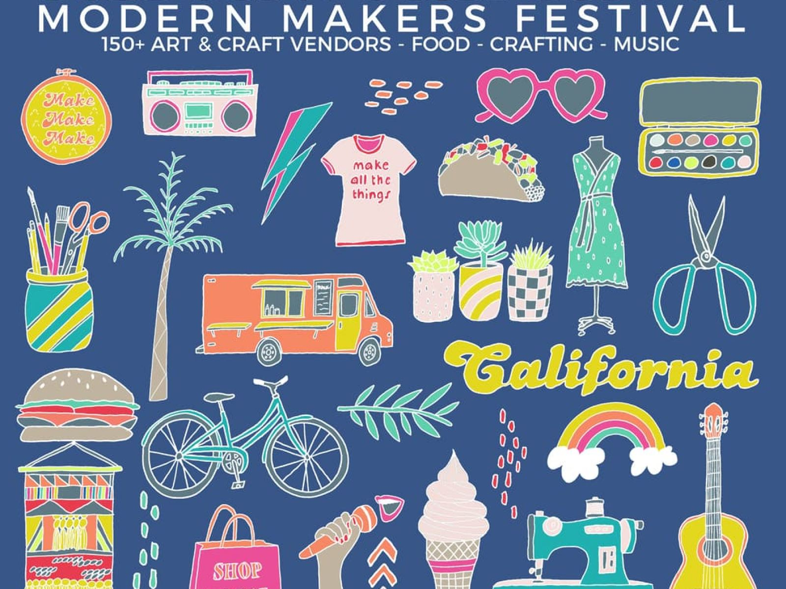 Dear Handmade Life Presents: Patchwork Show Modern Makers Festival 150+ Art & Craft Vendors, Food, Crafting, Music. Santa Ana, Long Beach, Ventura, Oakland, Santa Rosa