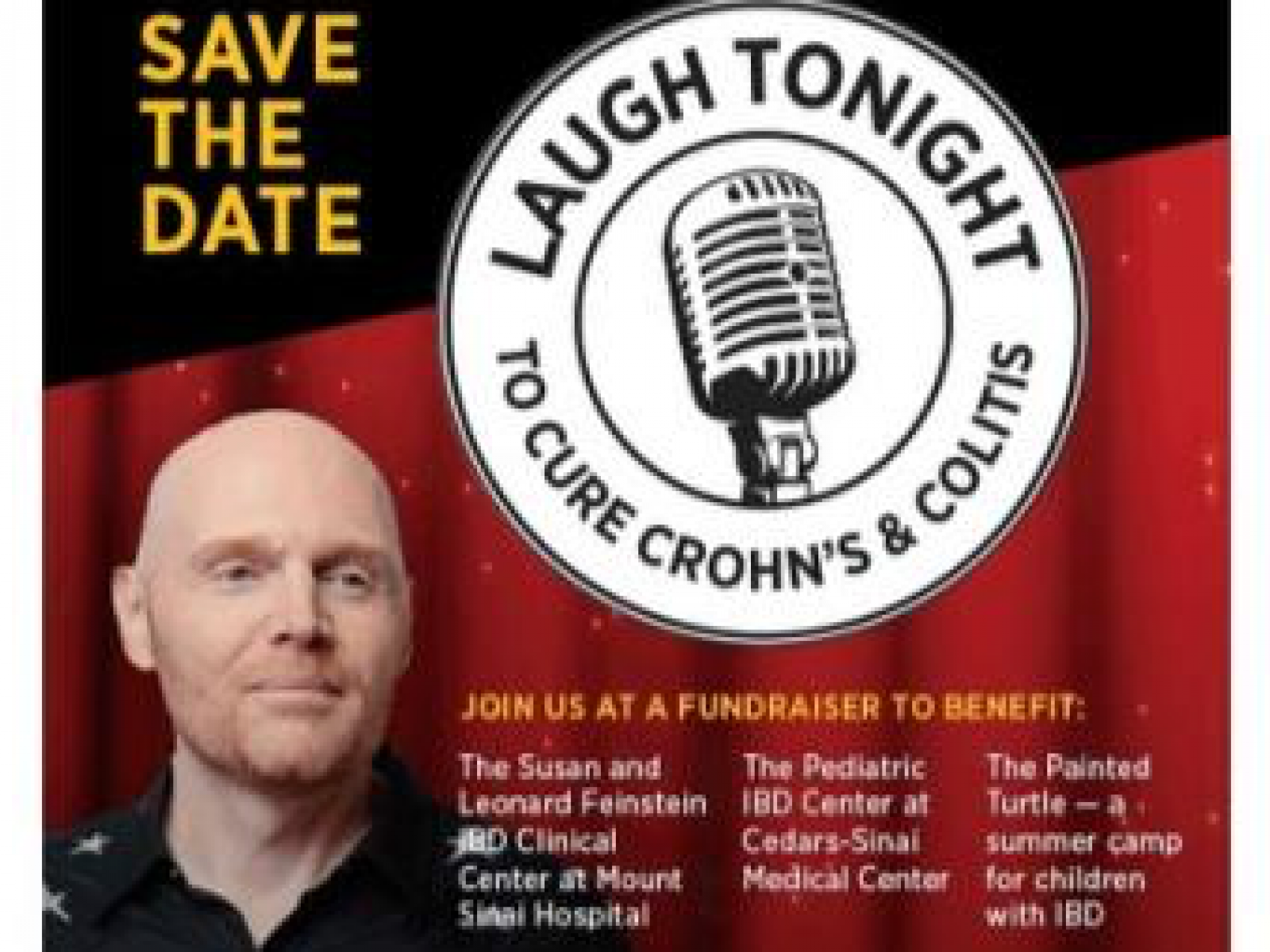 Main image for event titled Laugh Tonight To Cure Crohn's & Colitis w/ Bill Burr & More!