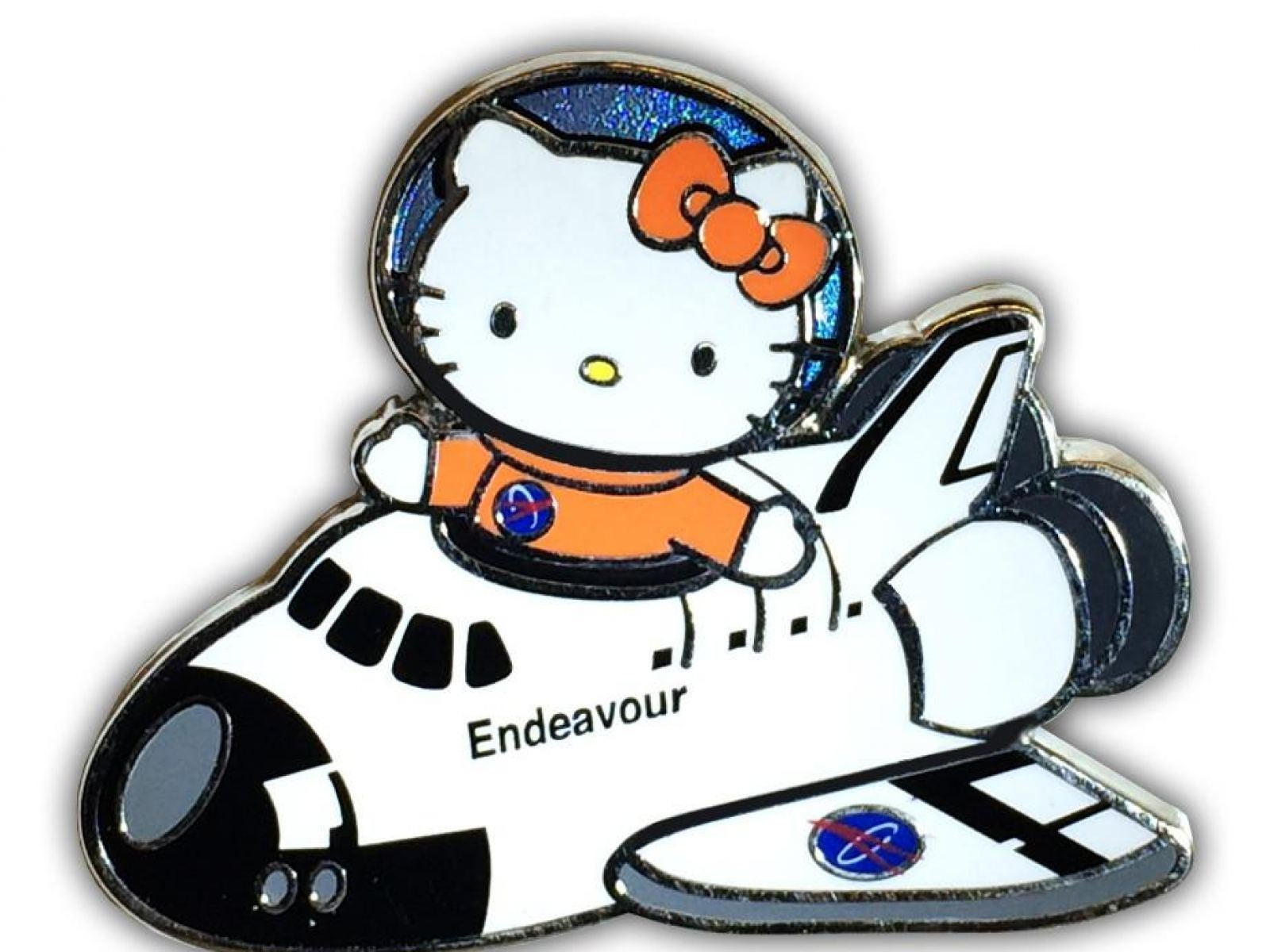 "Hello Kitty ""Endeavour Pilot"" Collectible Pin at the California Science Center"