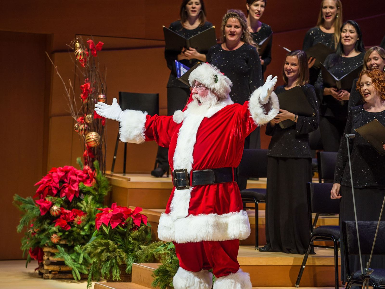 Santa sings at the LA Master Chorale's Festival of Carols