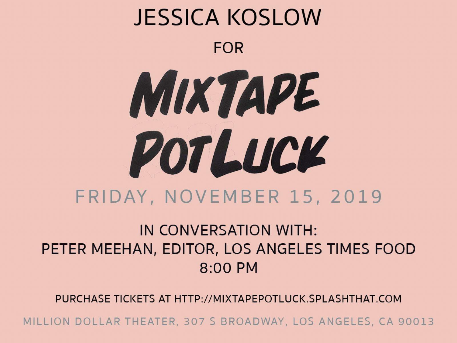 Mixtape Potluck Cookbook Flyer