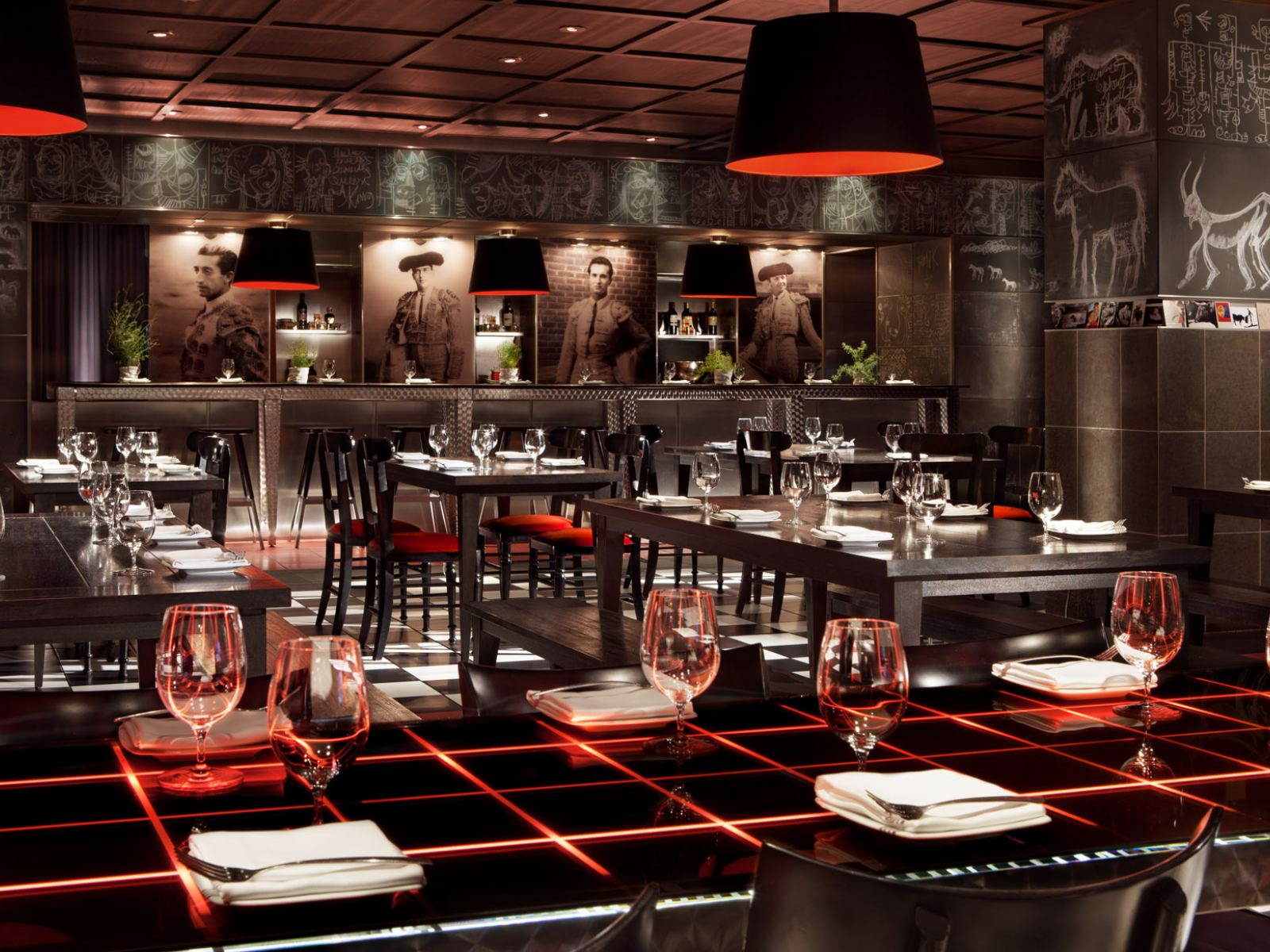 Rojo dining room at The Bazaar by José Andrés in the SLS Beverly Hills