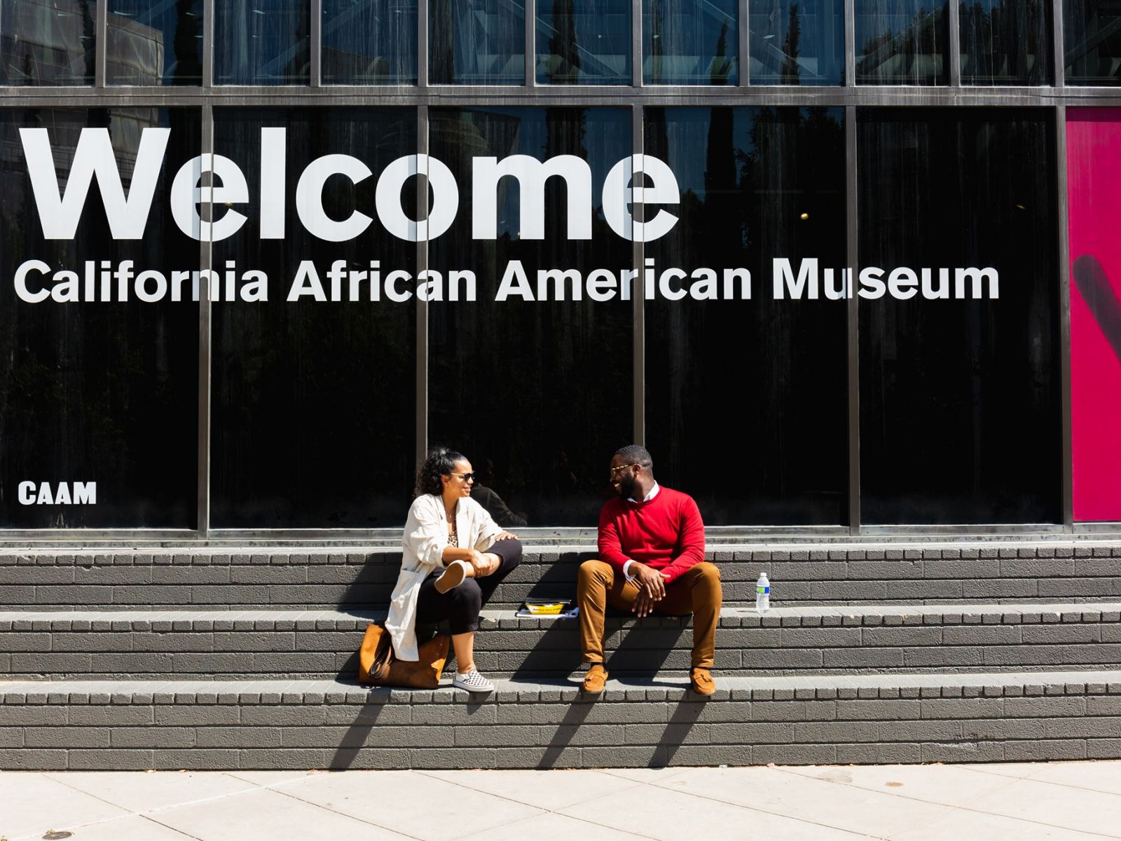Entrance to the California African American Museum (CAAM) in Exposition Park
