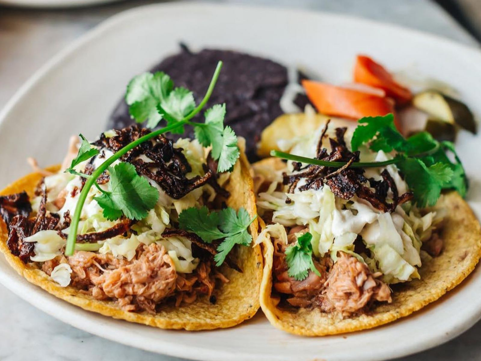 "Jackfruit ""Carnitas"" Tacos at Gracias Madre in West Hollywood"