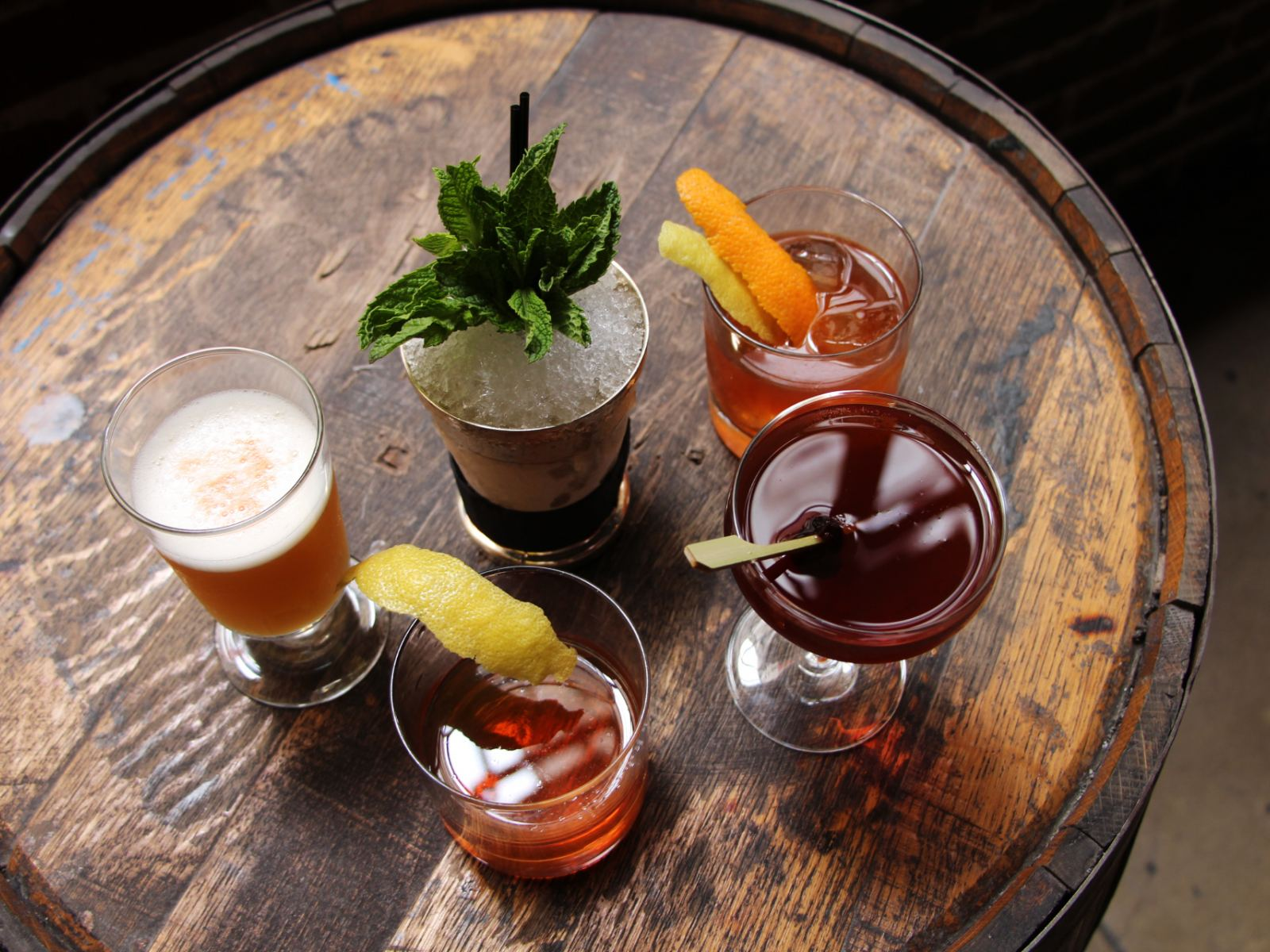 Five classic cocktails at Seven Grand in Downtown LA