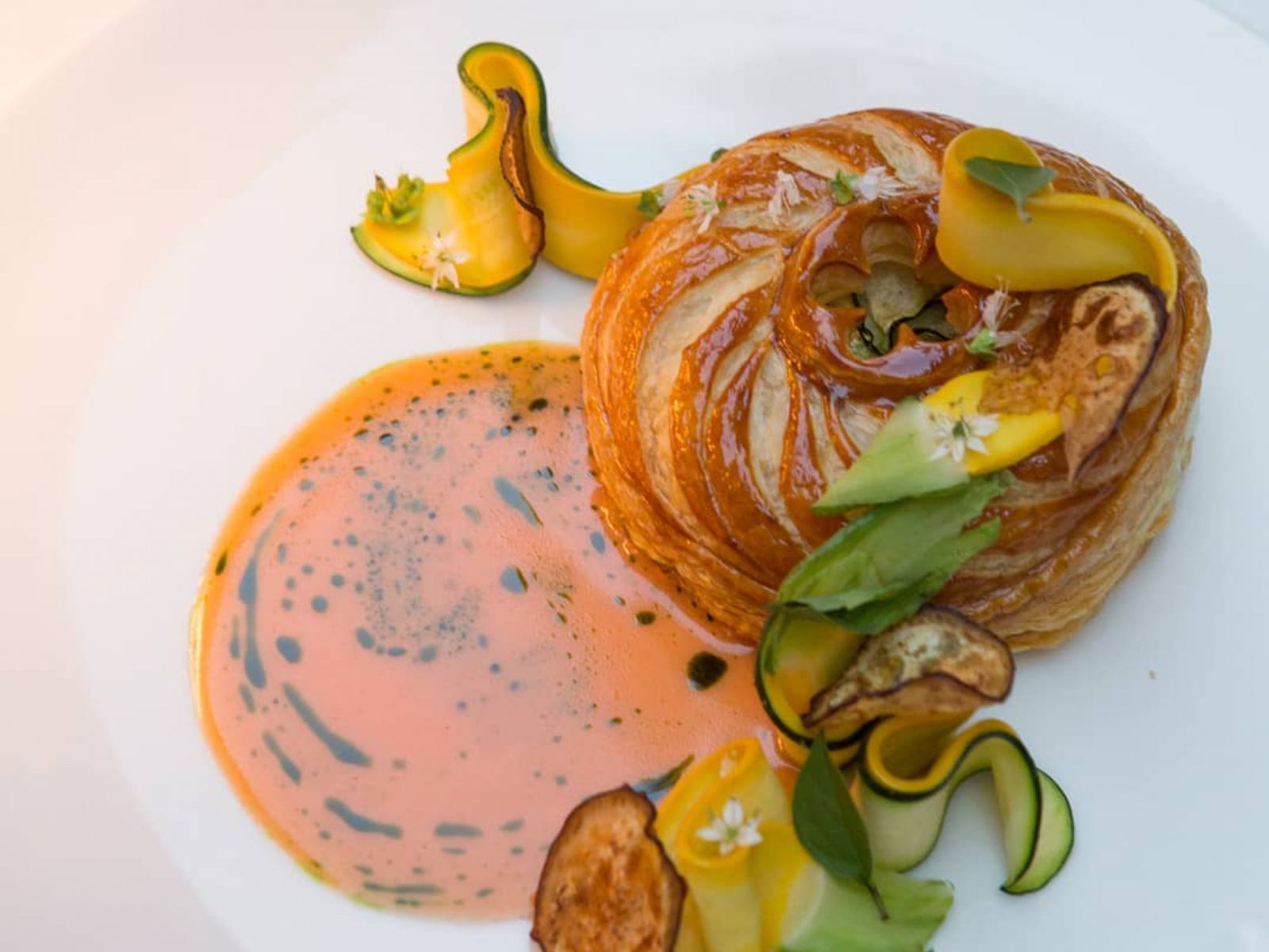 Vegetable Pithivier at Bon Temps in the Arts District