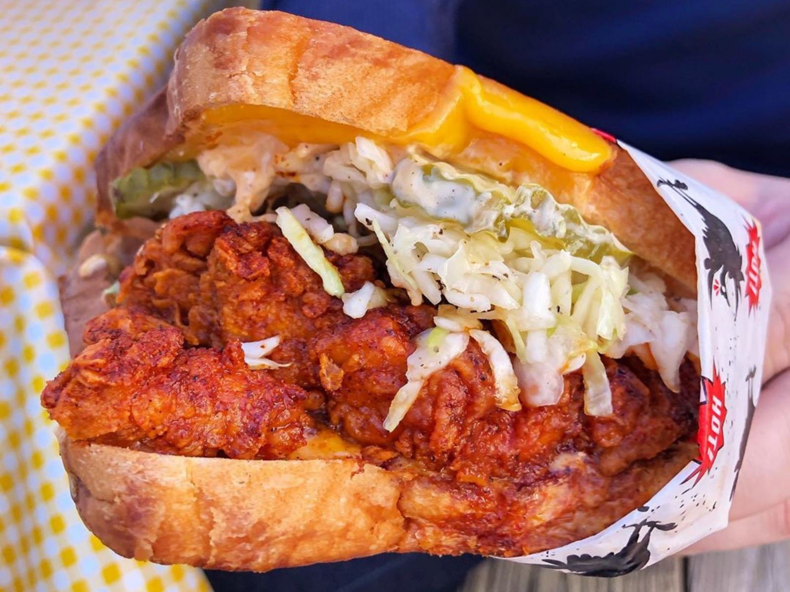 Luis-Style Fried Chicken Sando at Howlin' Ray's in Chinatown