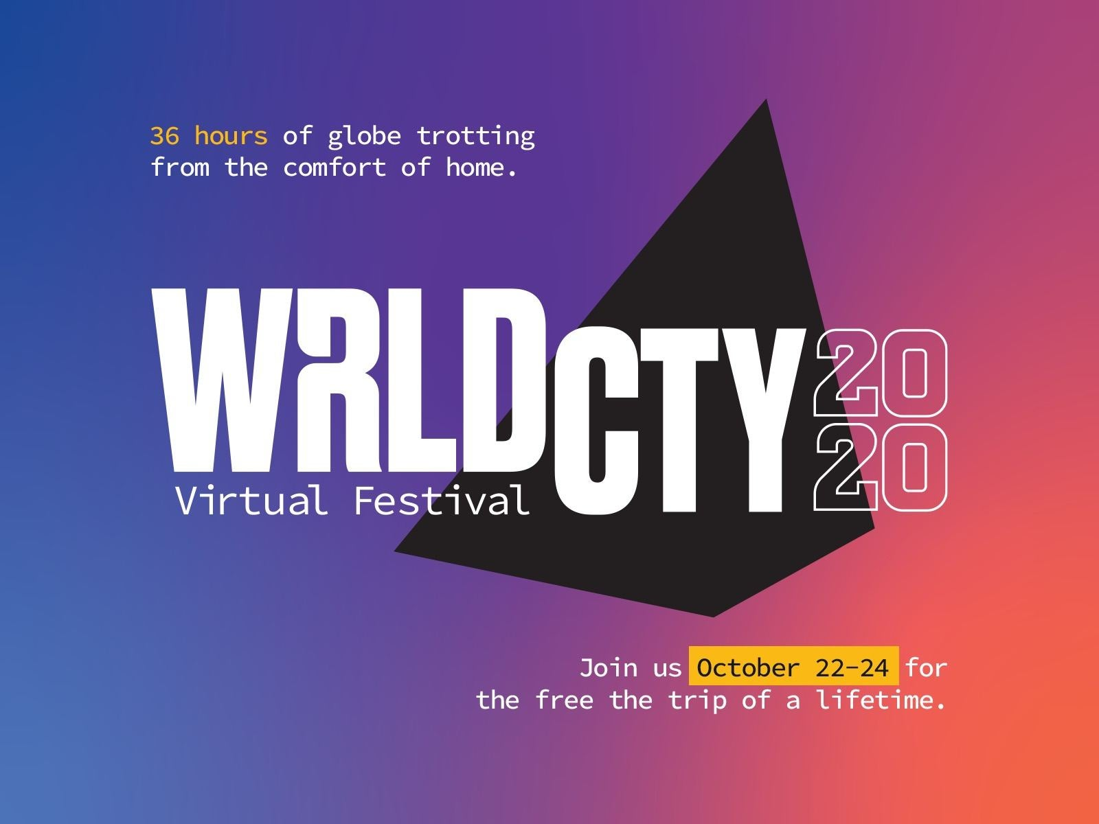 Main image for event titled WRLDCTY - The Planet's Largest Virtual Cities Conference (OPENING DAY)