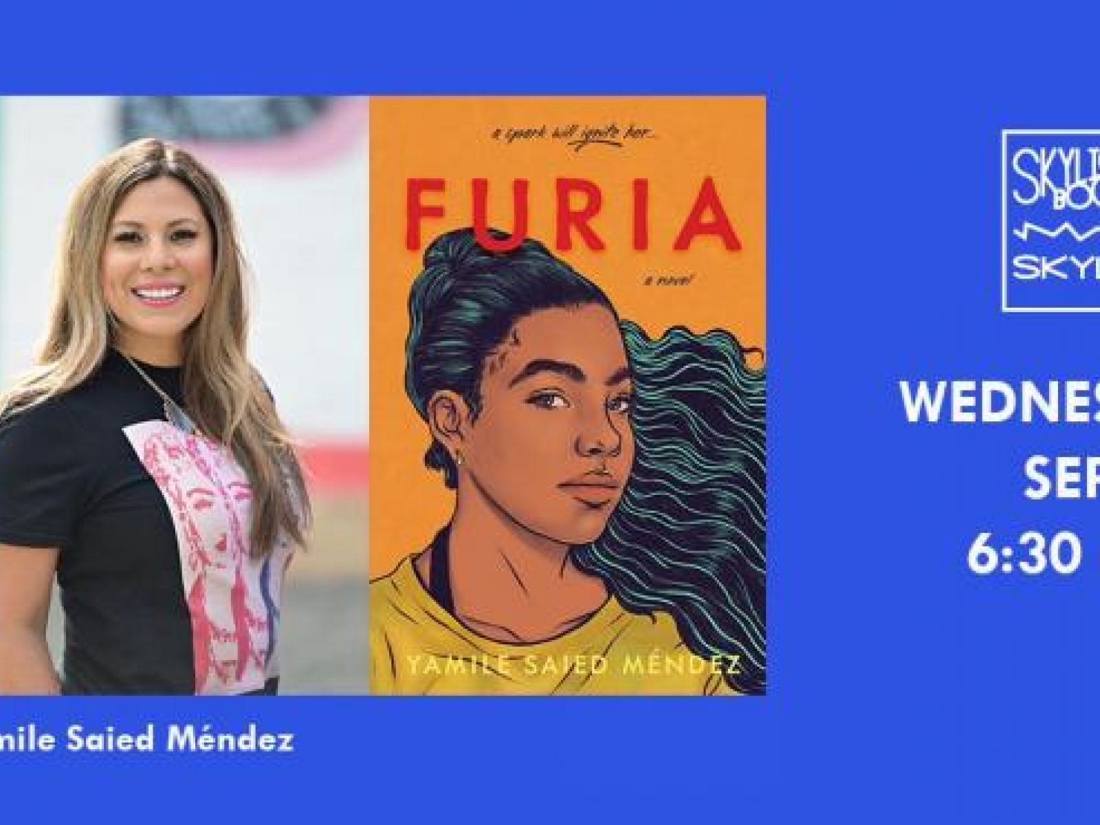 Main image for event titled LIVE ON CROWDCAST: YAMILE SAIED MÉNDEZ READS FROM HER DEBUT YA NOVEL FURIA: by Skylight Books