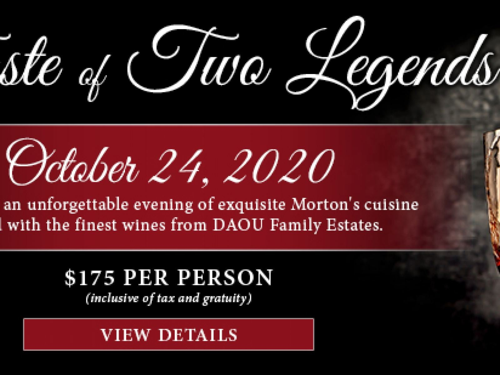Four Course Dinner and Wine Pairing $175 per person