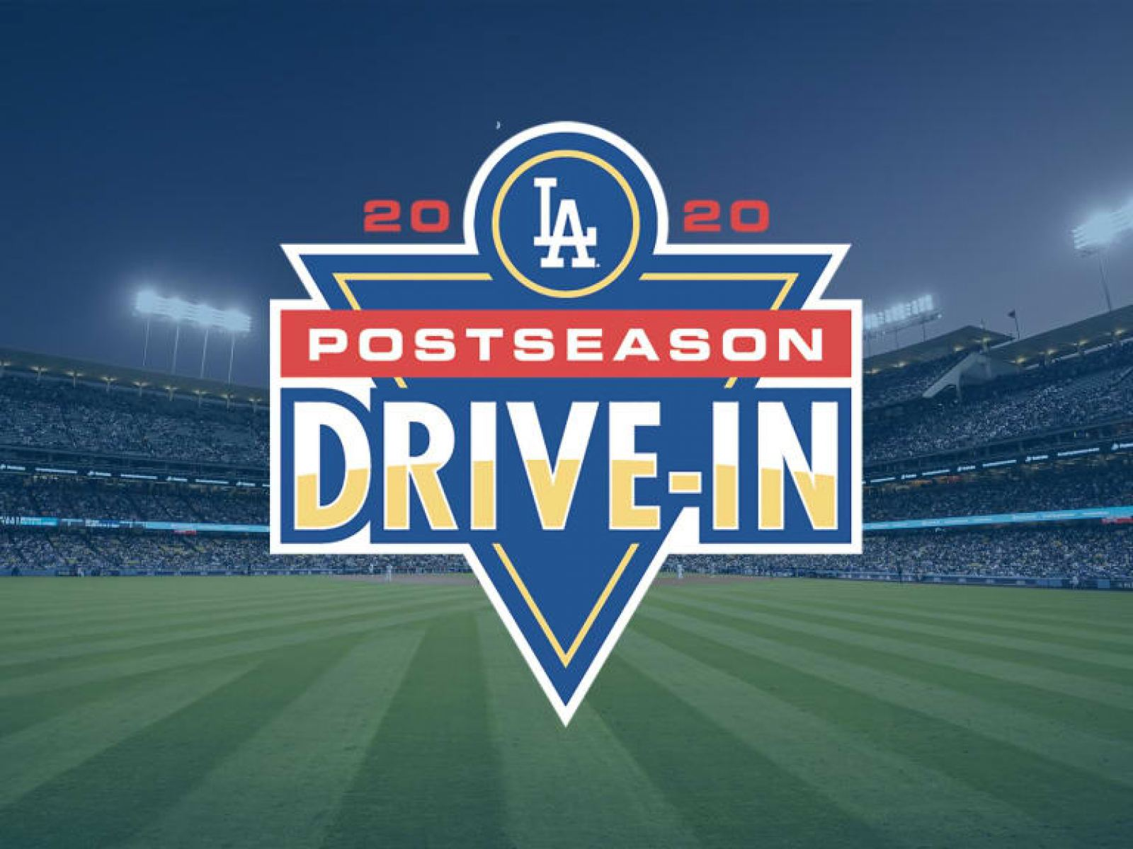 Main image for event titled LA Dodgers vs. Tampa Bay Rays (World Series, Game 1): DRIVE-IN AT DODGER STADIUM