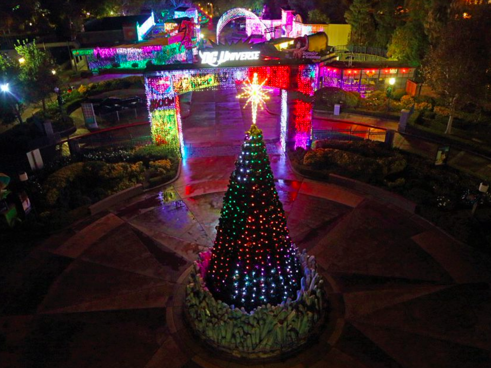 Main image for event titled Six Flags Magic Mountain's Holiday in the Park Drive-Thru Experience