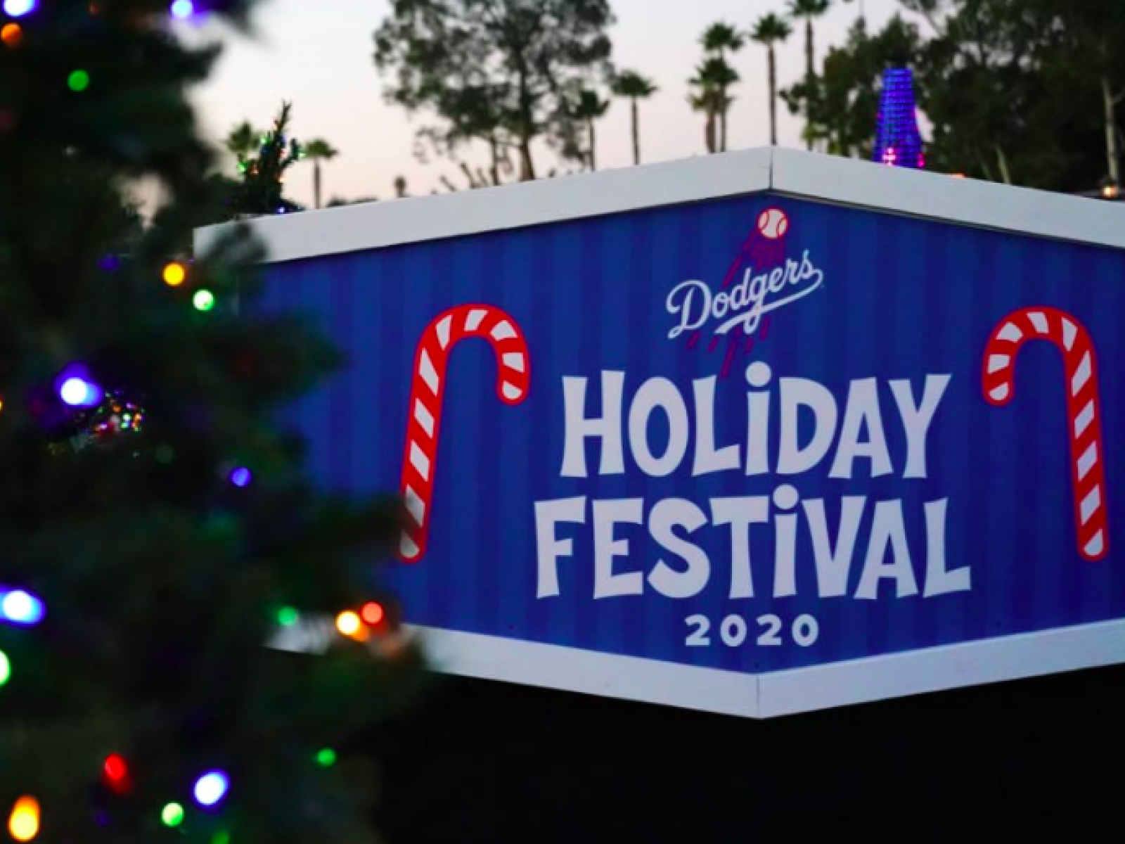 Main image for event titled Dodgers Drive-Thru Holiday Festival