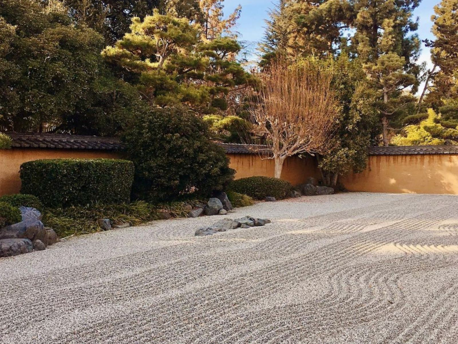 Zen Court at the Japanese Garden in The Huntington Library