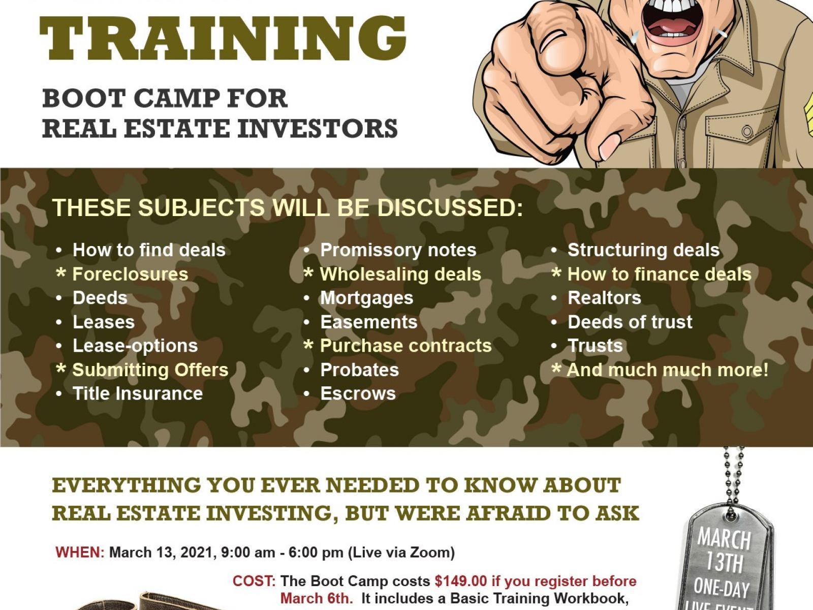 Real Estate Basic Training Boot Camp