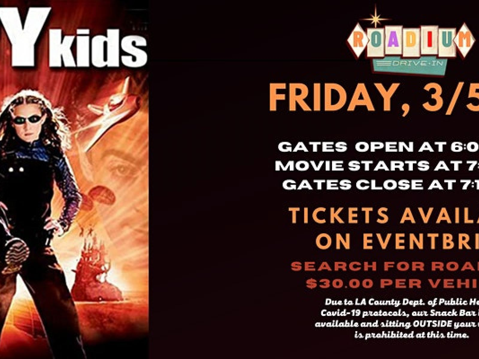 Main image for event titled SPY KIDS - Presented by The Roadium Drive-In