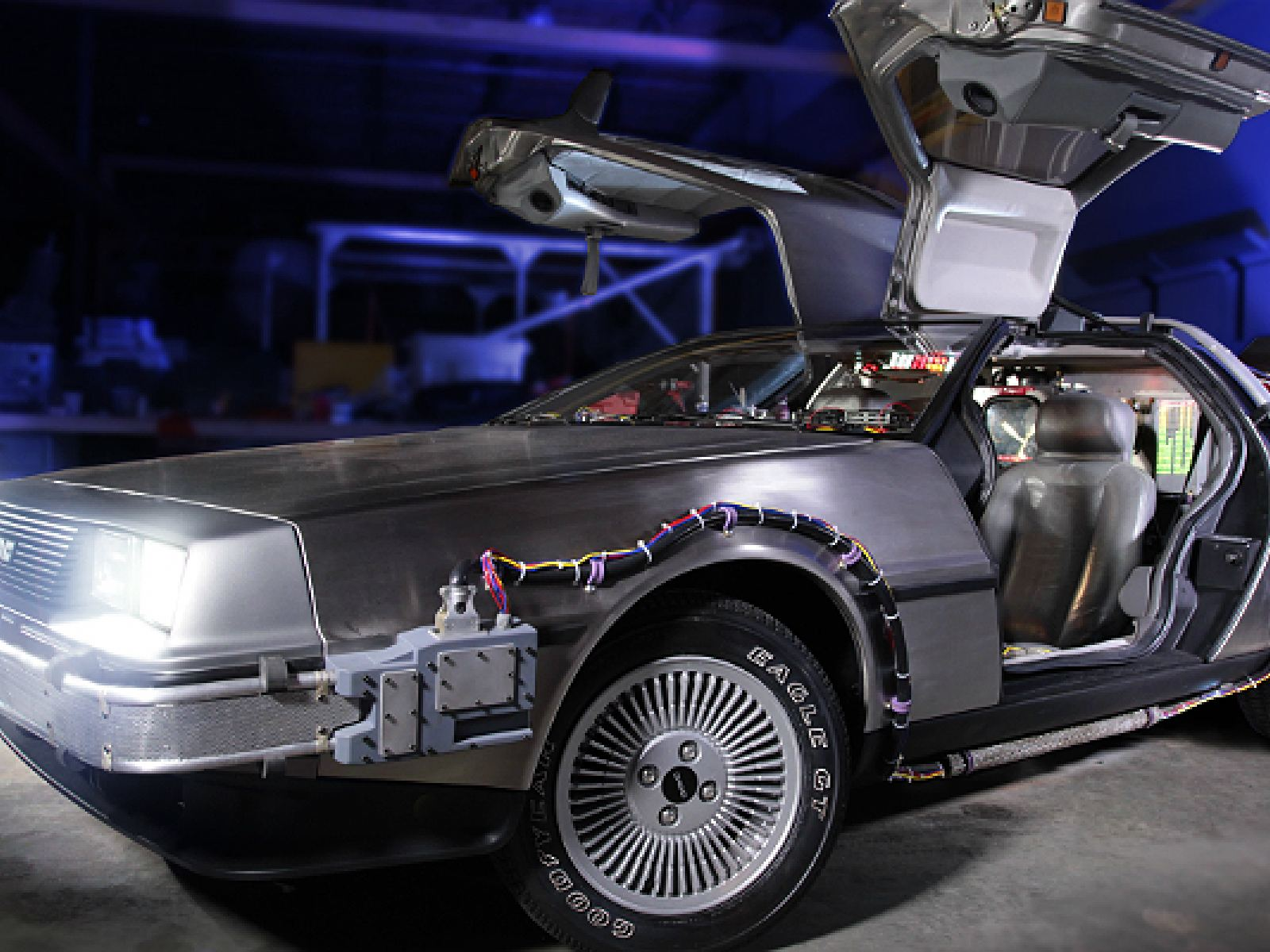 "Main image for article titled ""Back to the Future"" DeLorean at Petersen Automotive Museum"