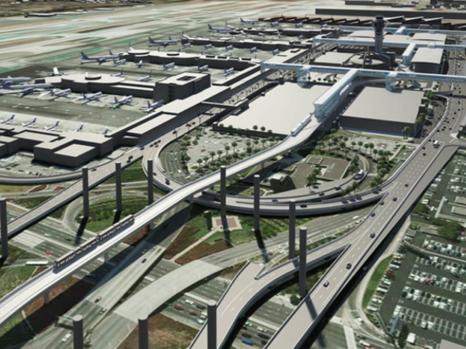 Main image for article titled Conheça o Futuro do Aeroporto Internacional de Los Angeles (LAX)