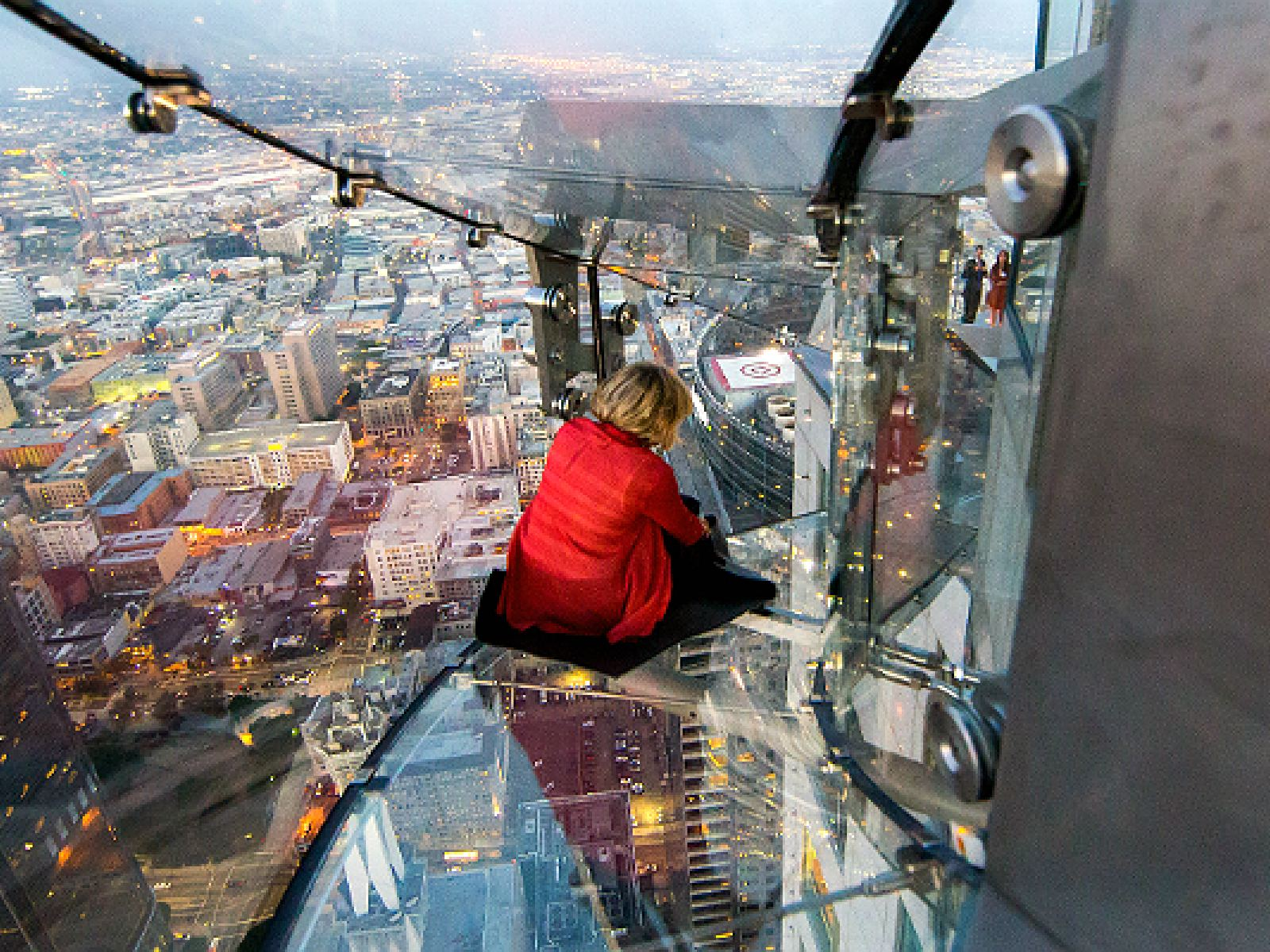 Main image for article titled Experience the Skyslide at OUE Skyspace Los Angeles