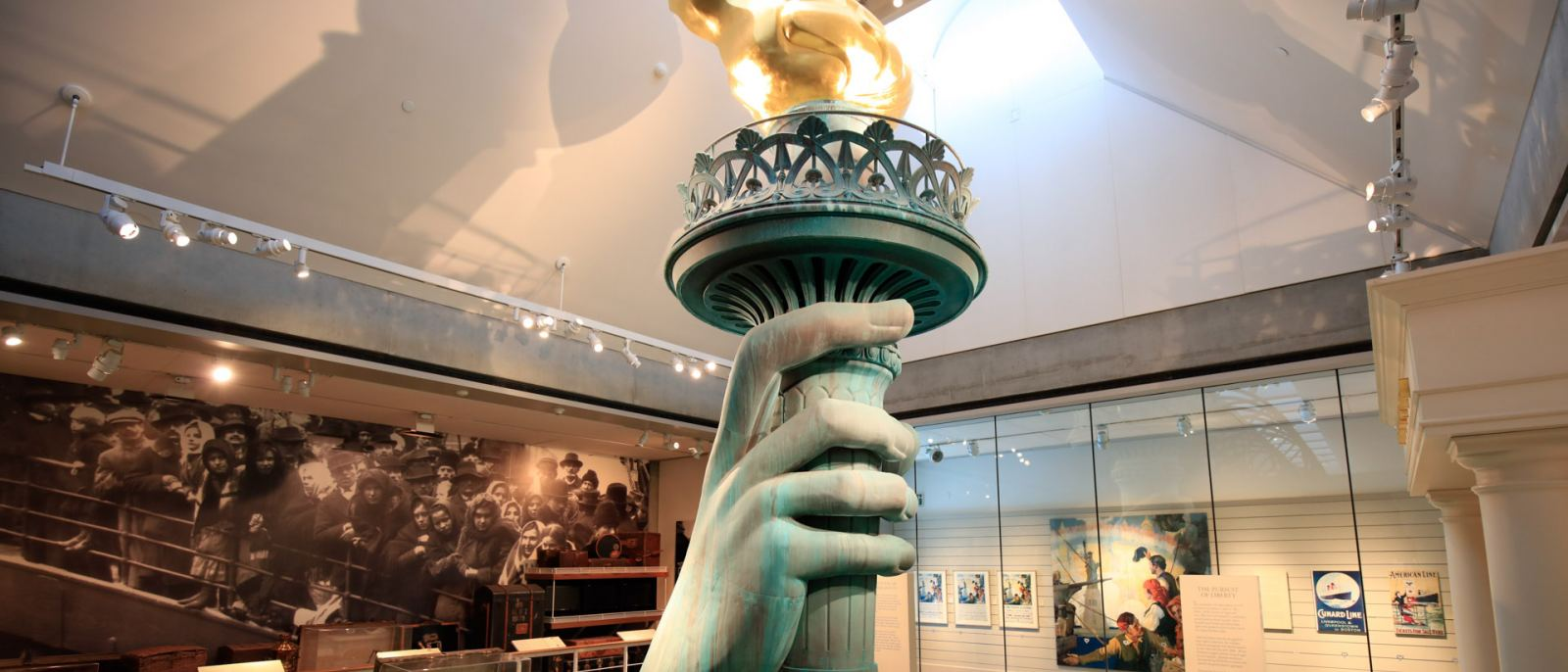 Statue of Liberty Torch at Skirball Cultural Center