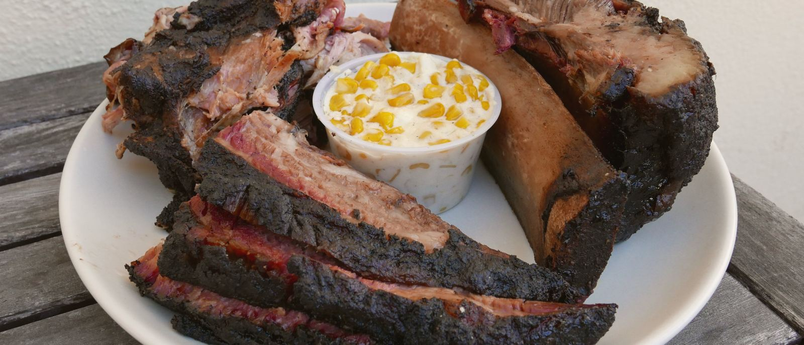 Brisket, beef ribs and pulled pork at Bartz Barbecue