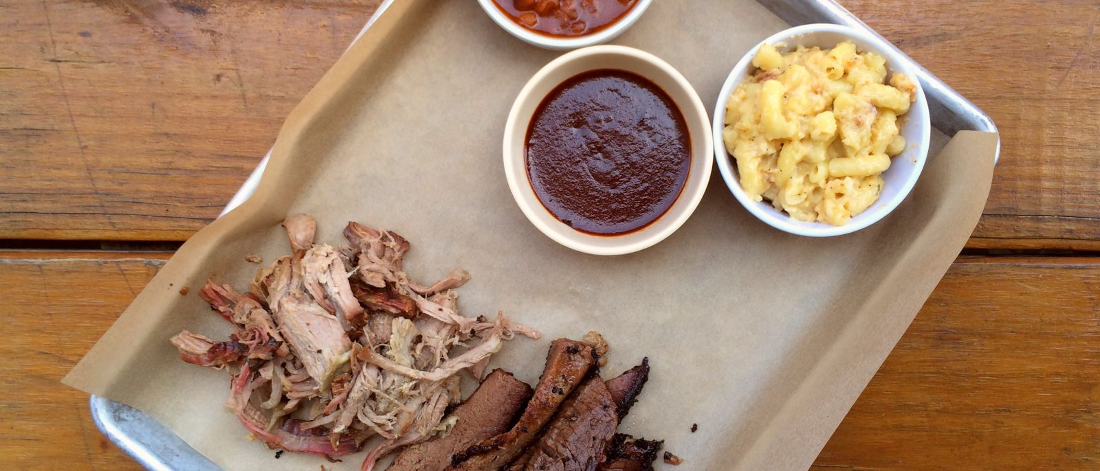 Brisket and pork at Bludso's Bar & Cue