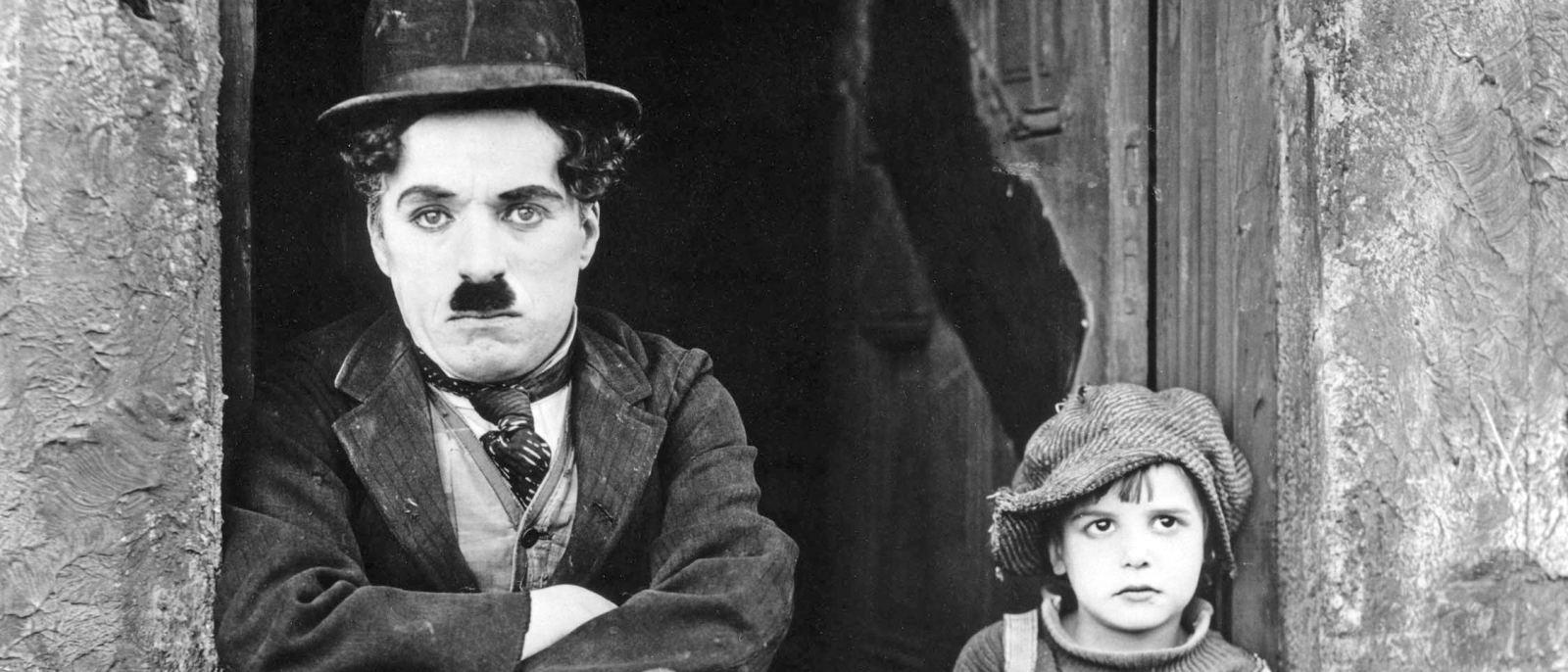 "Charlie Chaplin and Jackie Coogan in ""The Kid"" (1921)"