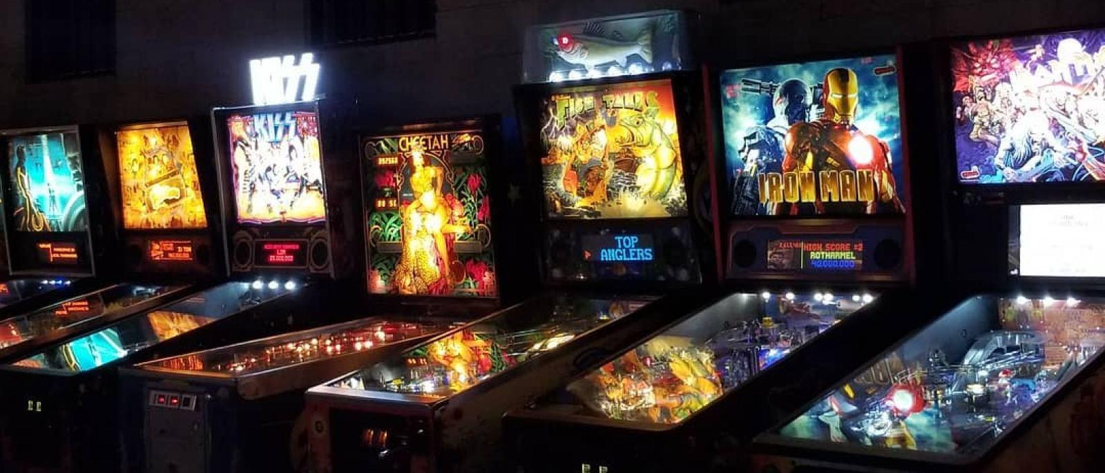 Pinball machines at EightyTwo