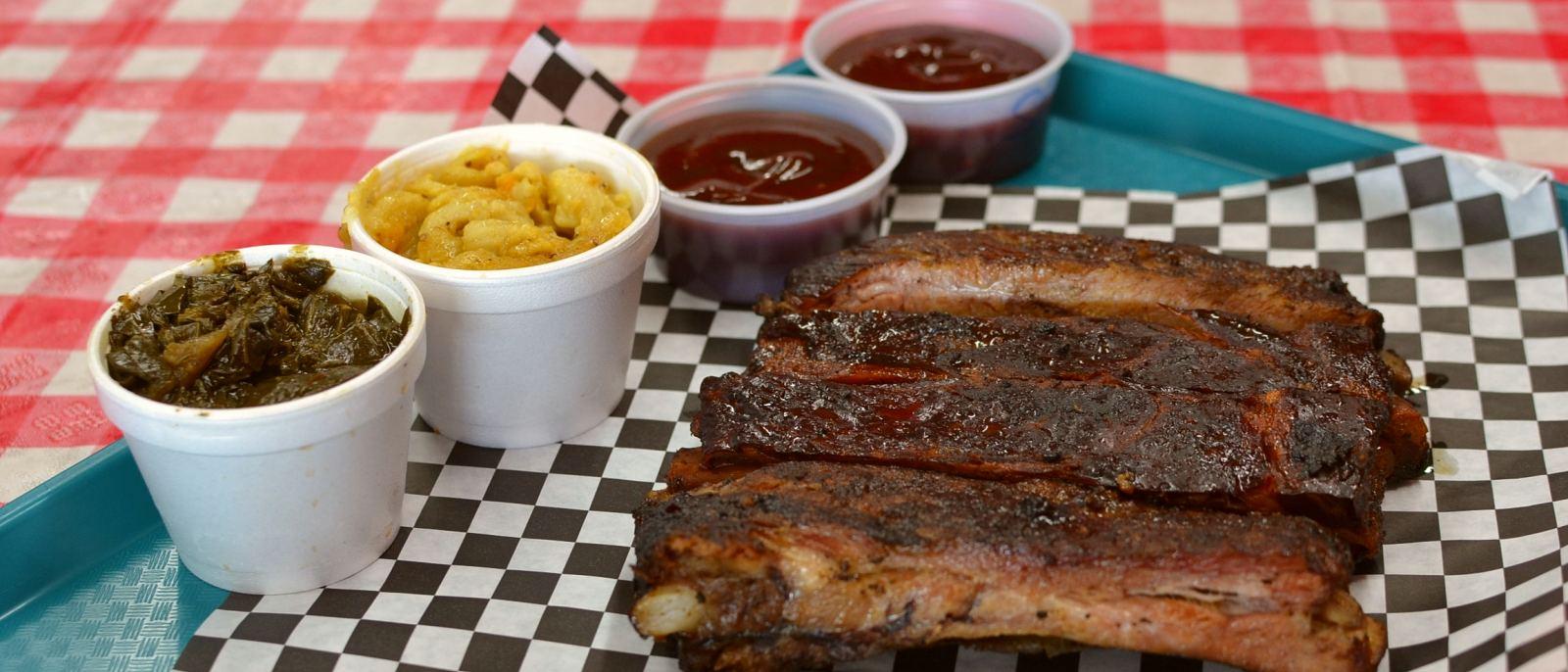 Pork ribs at Robert Earl's BBQ