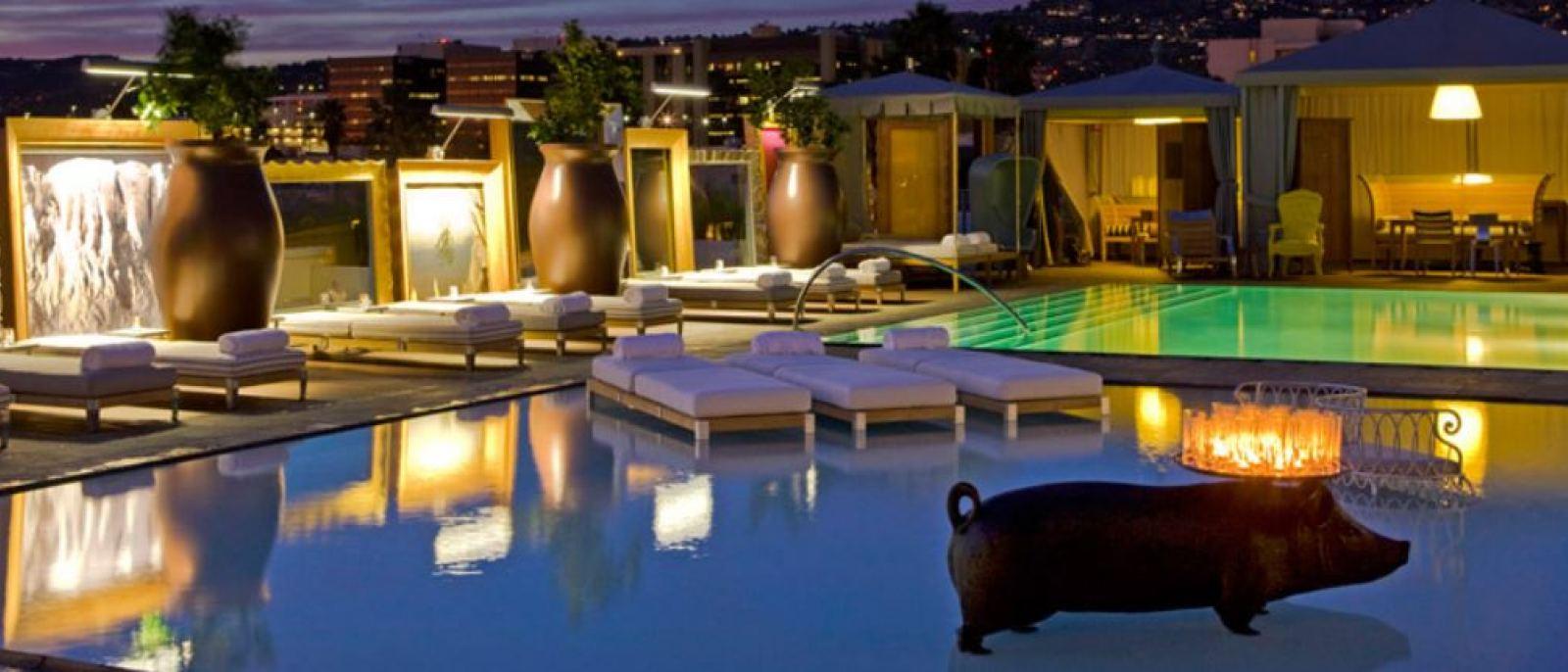 SLS Beverly Hills, Poolside   Photo courtesy SLS Beverly Hills