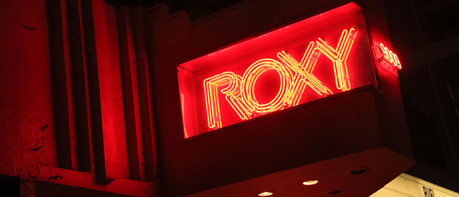 Neon sign at The Roxy