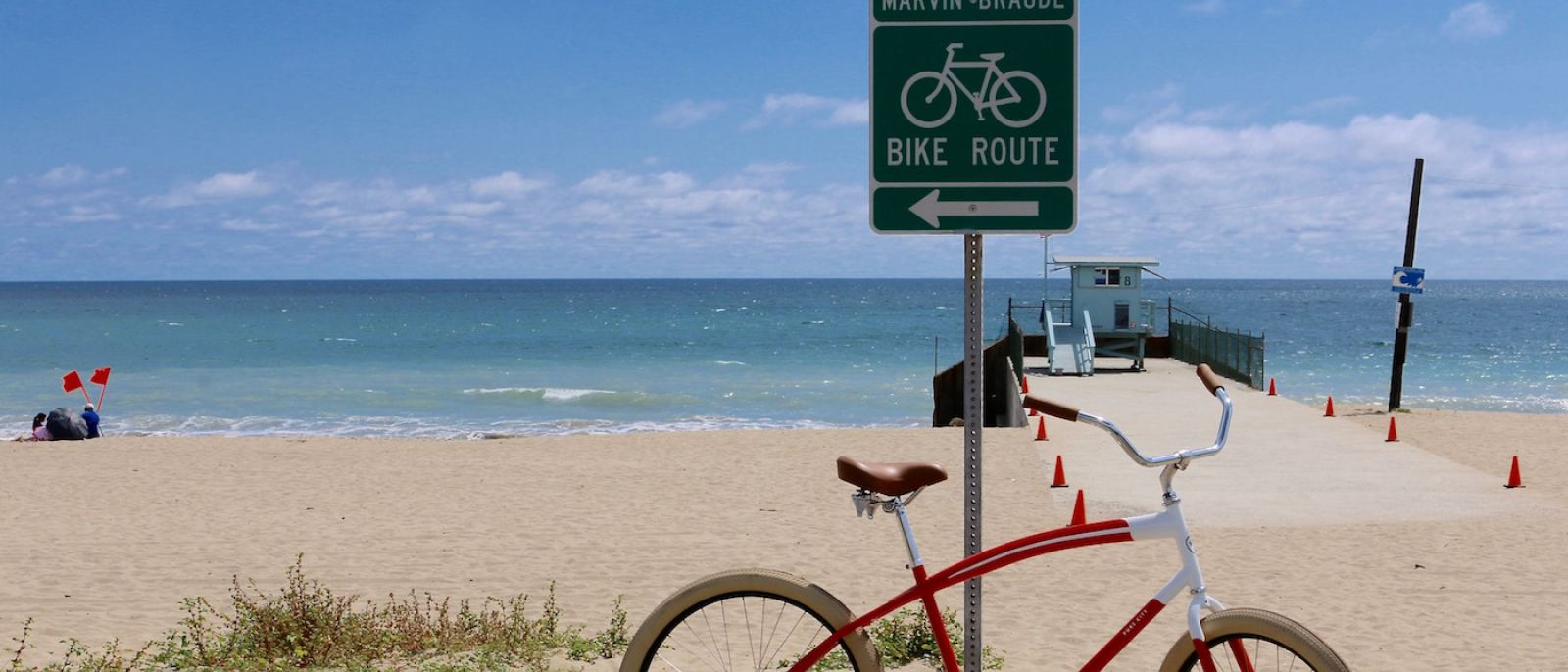 The Marvin Braude Bike Trail at Will Rogers State Beach   |  Photo: Joshua Johnson