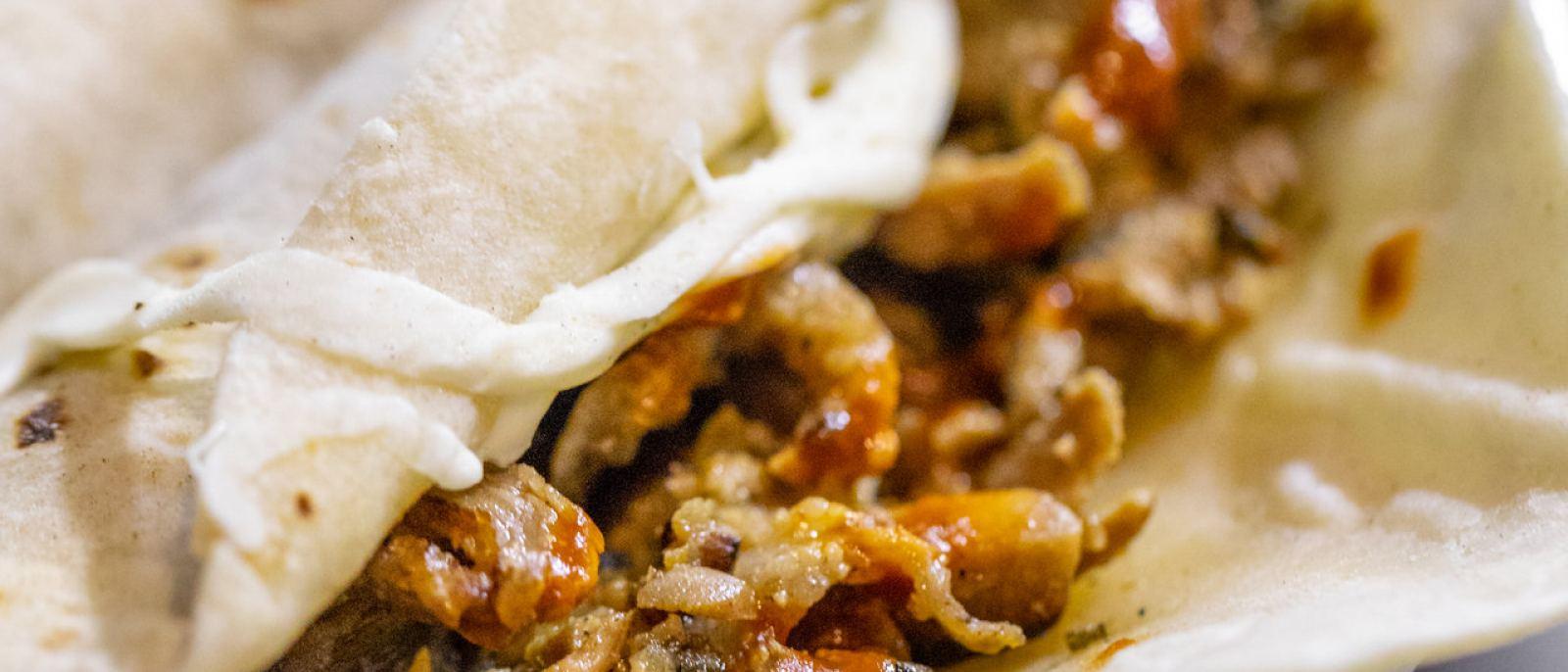 Taco árabe con quesillo at Los Originales Tacos Arabes de Puebla   |  Photo: Jakob Layman